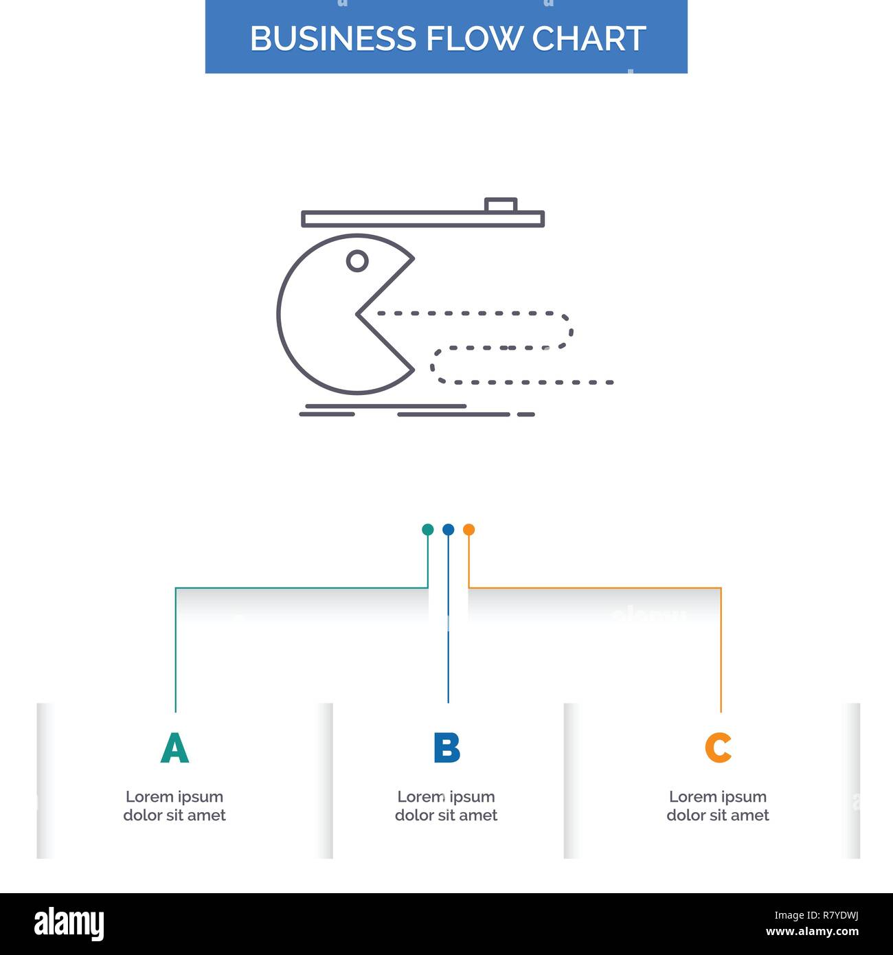 Character Computer Game Gaming Pacman Business Flow Chart Design