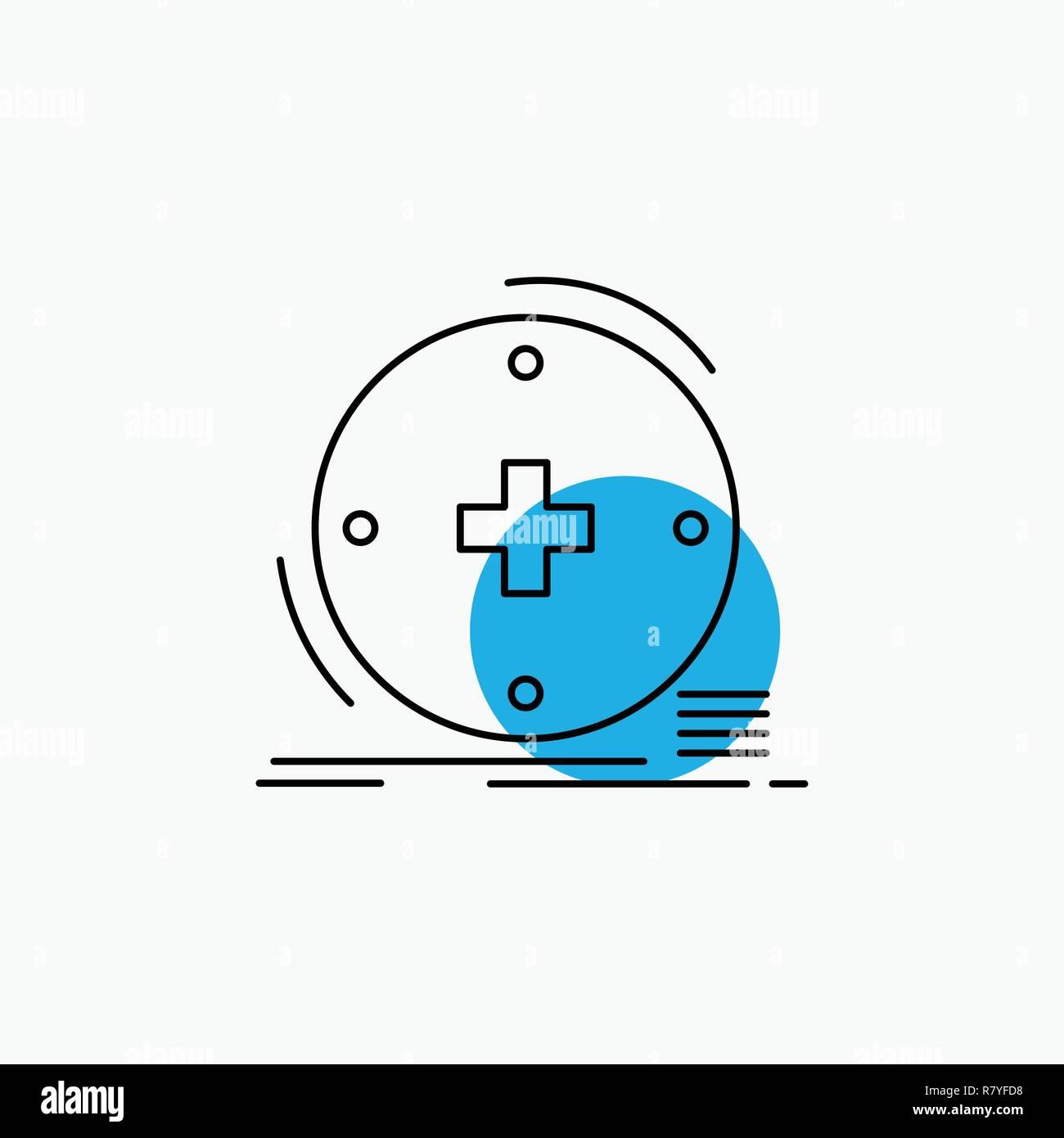 Clinical, digital, health, healthcare, telemedicine Line Icon - Stock Image