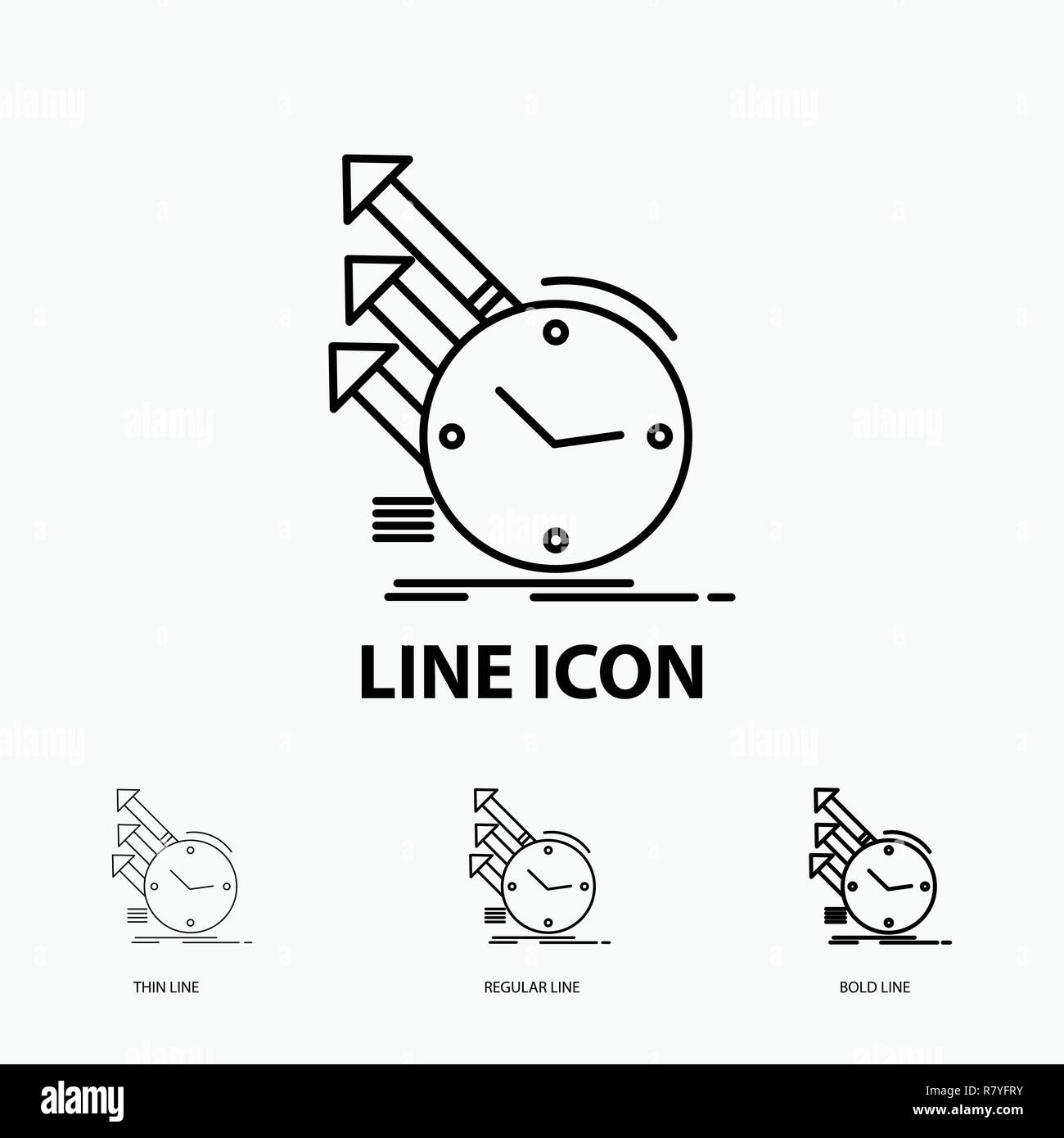 line stock photos line stock images page 298 alamy Timeline Template Infographic detection inspection of regularities research icon in thin regular and bold