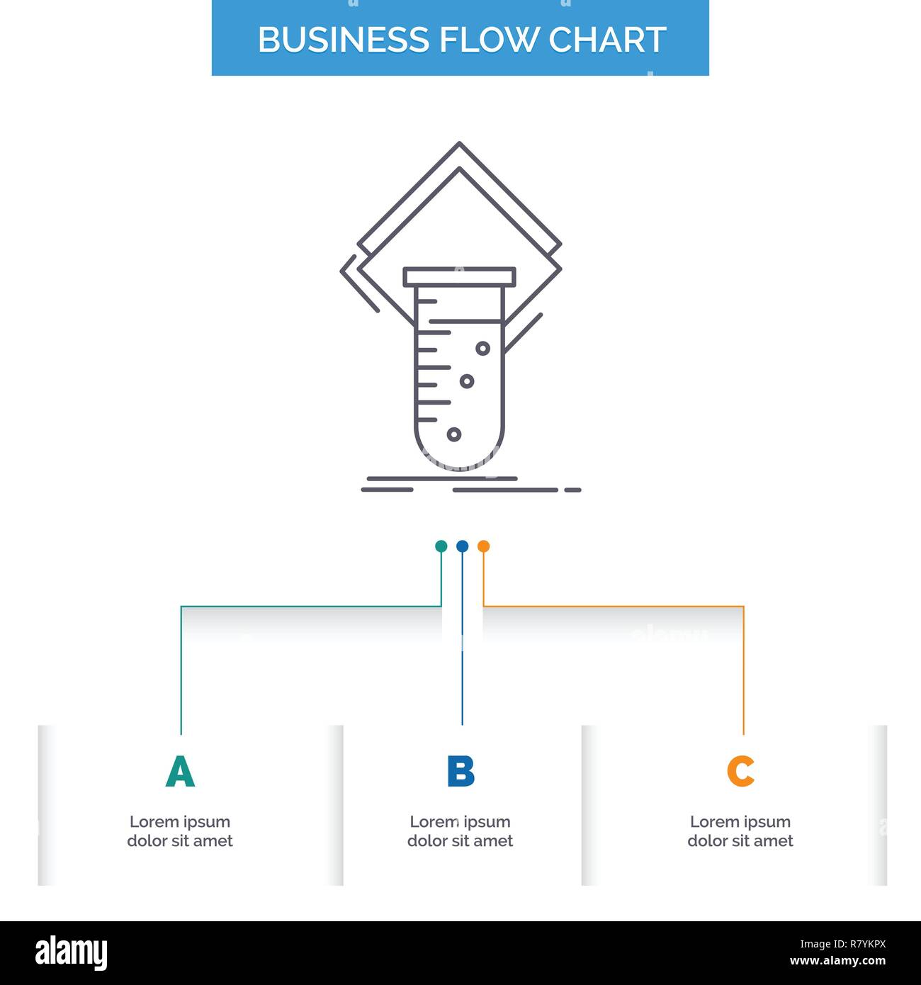 Chemistry lab study test testing business flow chart design with