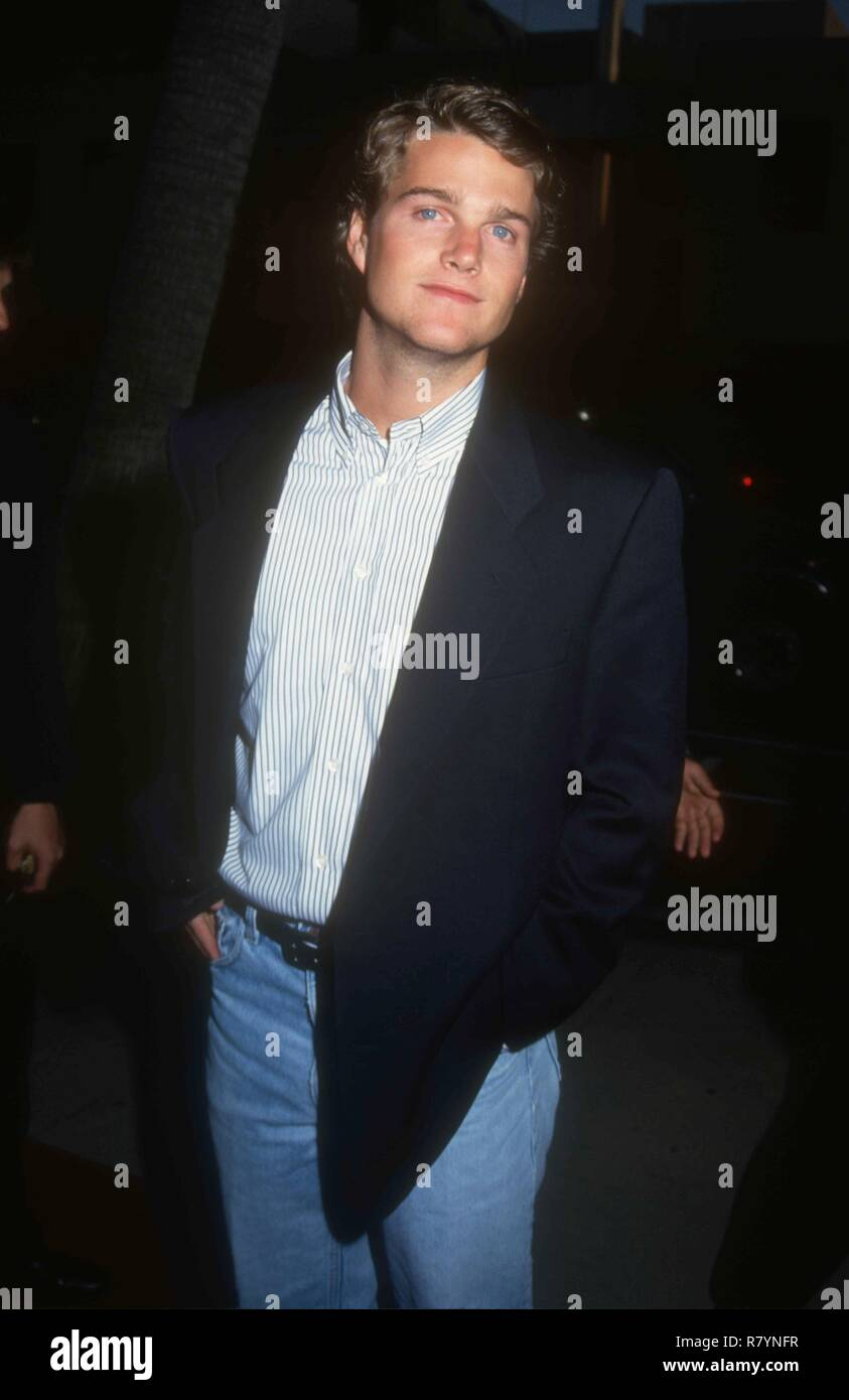 BEVERLY HILLS, CA - APRIL 6: Actor Chris O'Donnell attends the 'Indecent Proposal' Premiere on April 6, 1993 at the Samuel Goldwyn Theatre in Beverly Hills, California. Photo by Barry King/Alamy Stock Photo - Stock Image