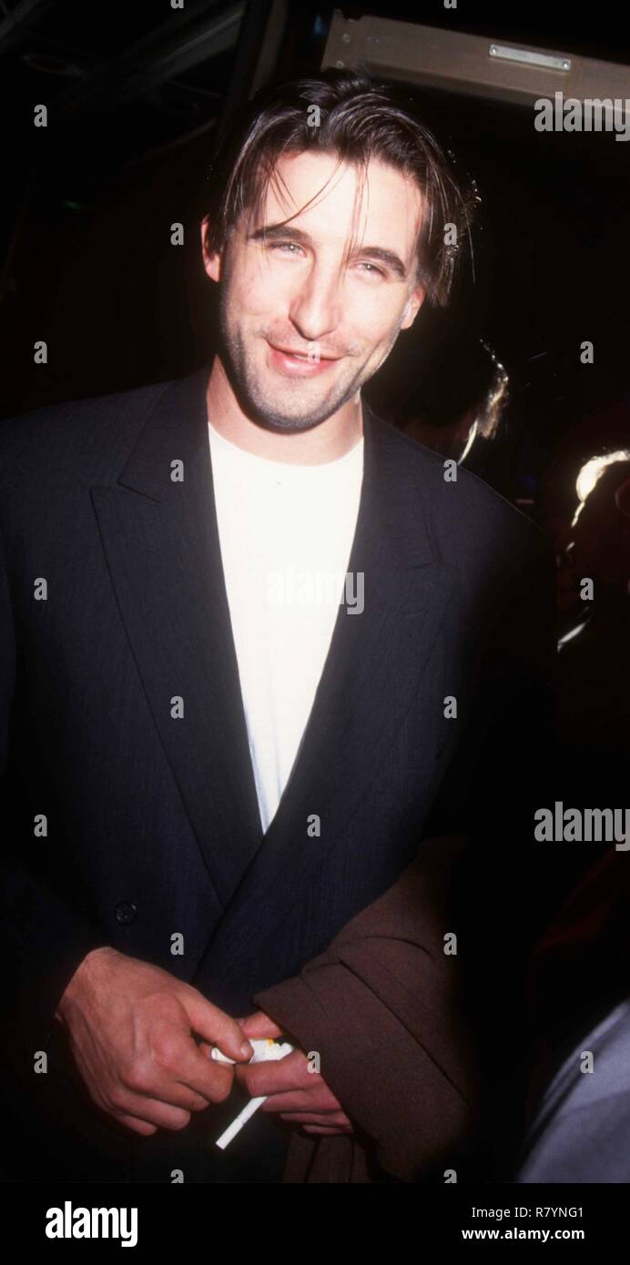 BEVERLY HILLS, CA - APRIL 6: Actor William Baldwin attends the 'Indecent Proposal' Premiere on April 6, 1993 at the Samuel Goldwyn Theatre in Beverly Hills, California. Photo by Barry King/Alamy Stock Photo - Stock Image