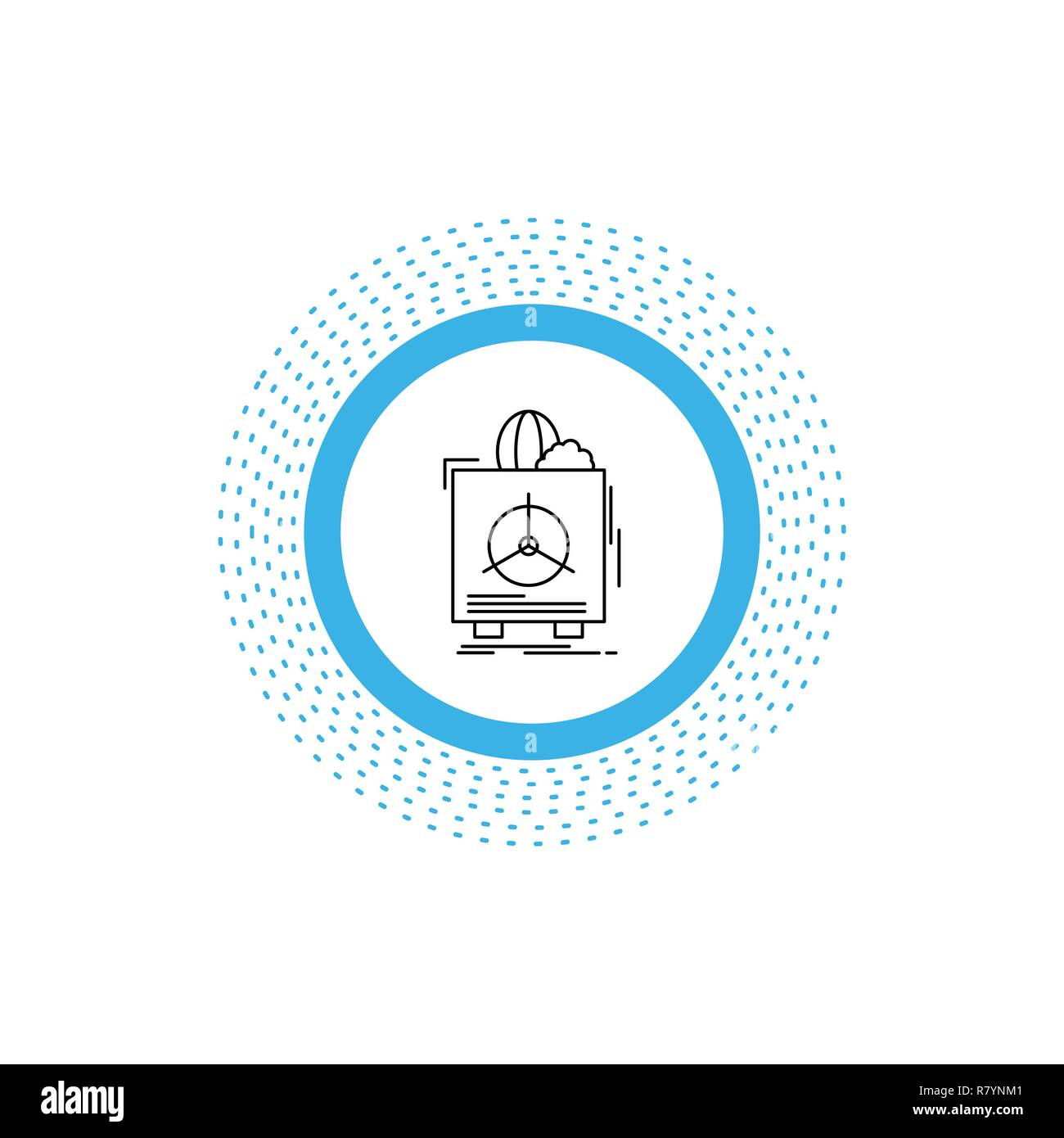 insurance, Fragile, product, warranty, health Line Icon. Vector isolated illustration - Stock Vector