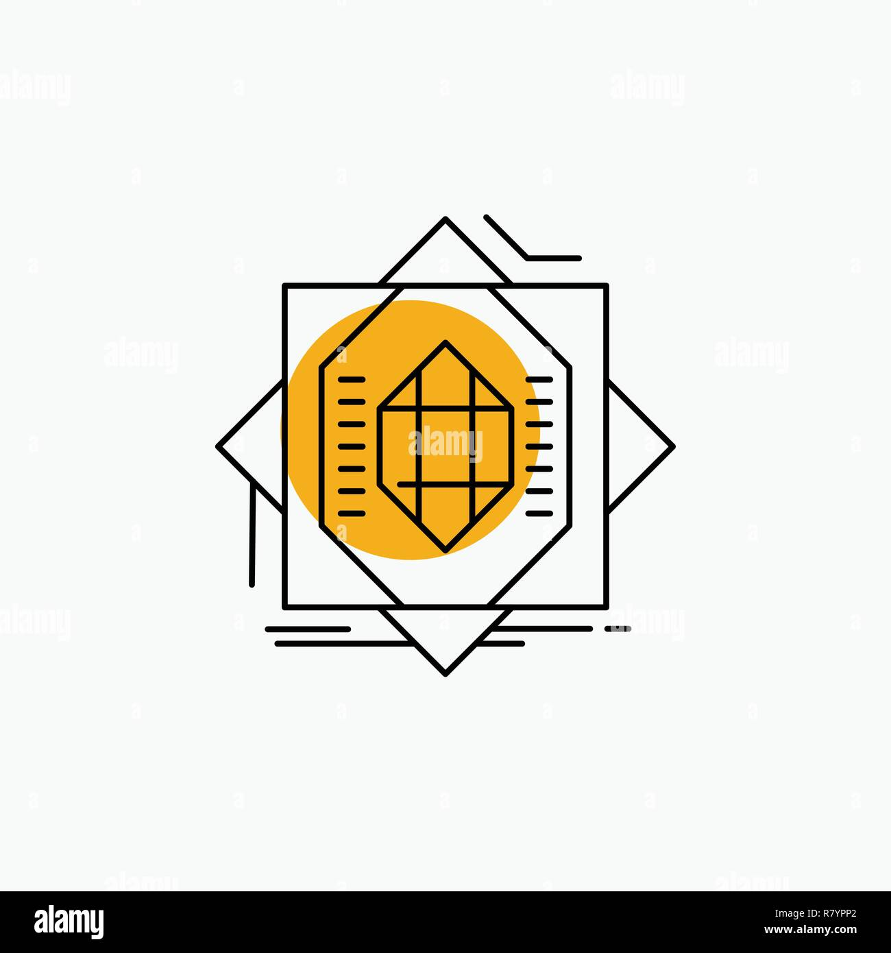Abstract, core, fabrication, formation, forming Line Icon - Stock Vector