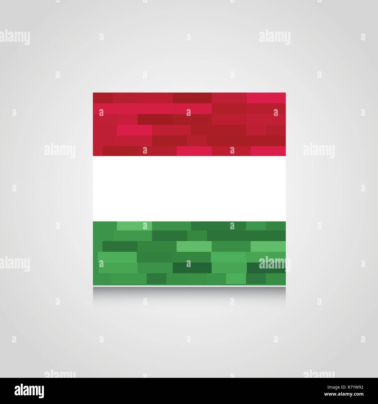 Hungary Abstract Flag Background - Stock Vector