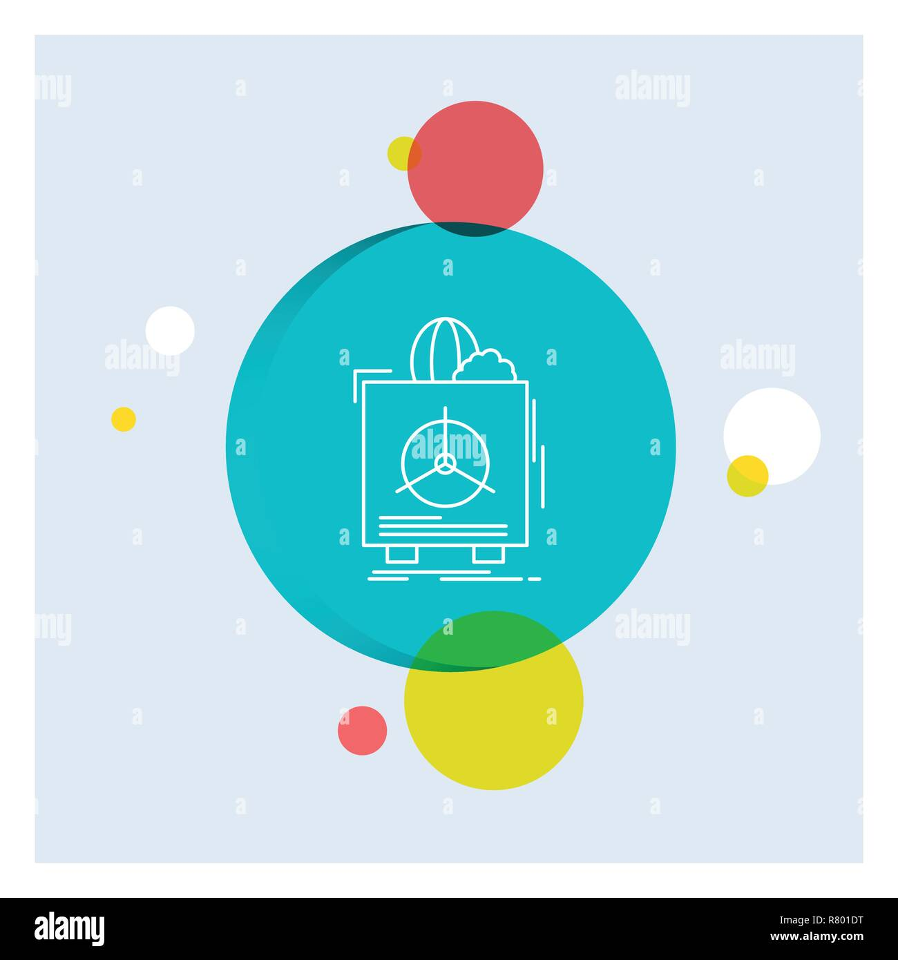 insurance, Fragile, product, warranty, health White Line Icon colorful Circle Background - Stock Vector