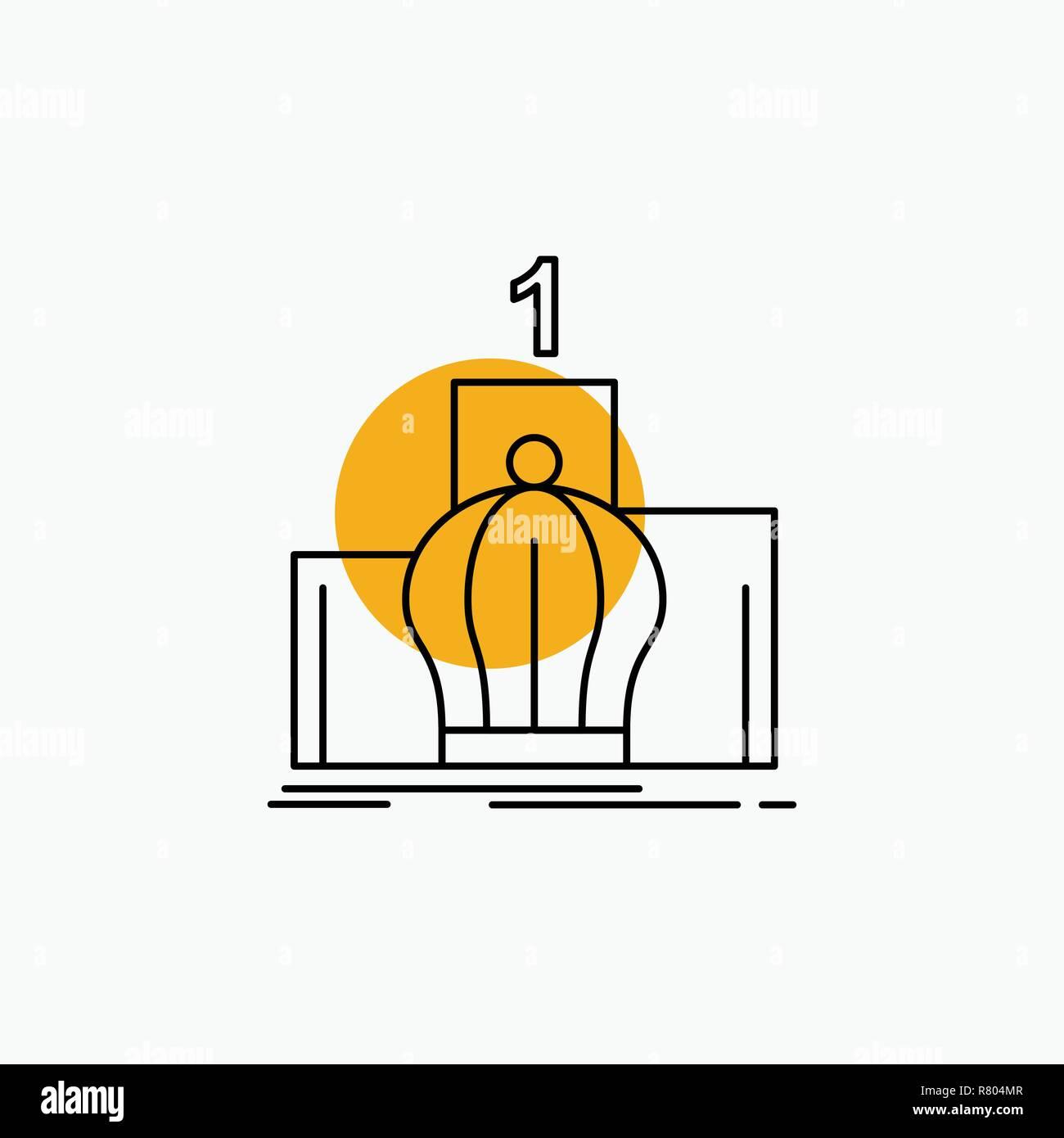 Crown, king, leadership, monarchy, royal Line Icon - Stock Vector