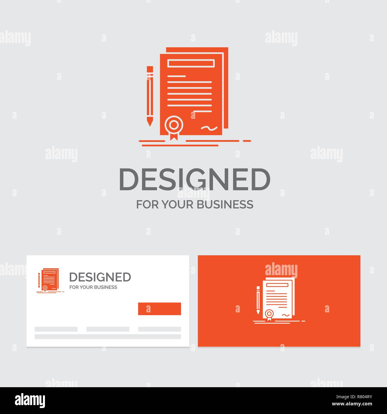 Business Logo Template For Business Certificate Contract Degree