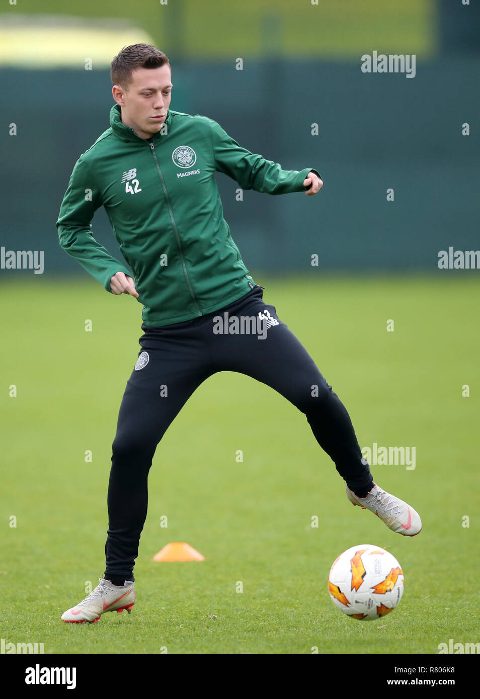 Celtic's Callum McGregor during the training session at Lennoxtown, Glasgow. - Stock Image