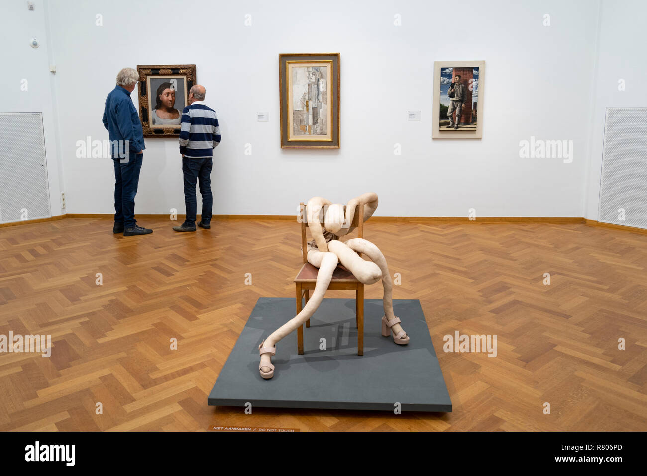 Sculpture Nobby Bloke by Sarah Lucas at the Gemeentemuseum in The Hague, Den Haag, The Netherlands - Stock Image