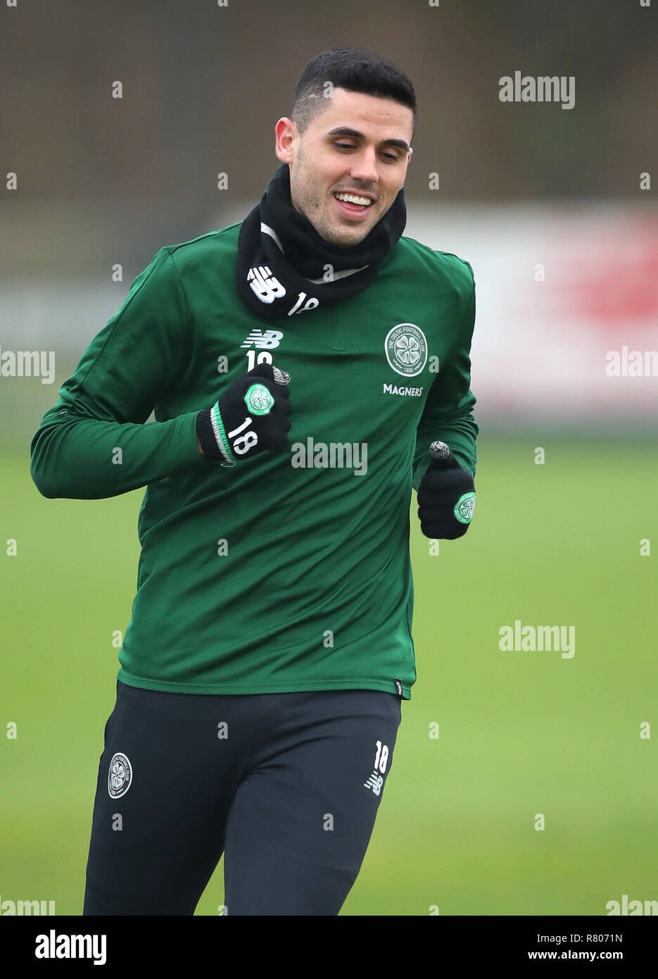 Celtic's Tom Rogic during the training session at Lennoxtown, Glasgow. - Stock Image
