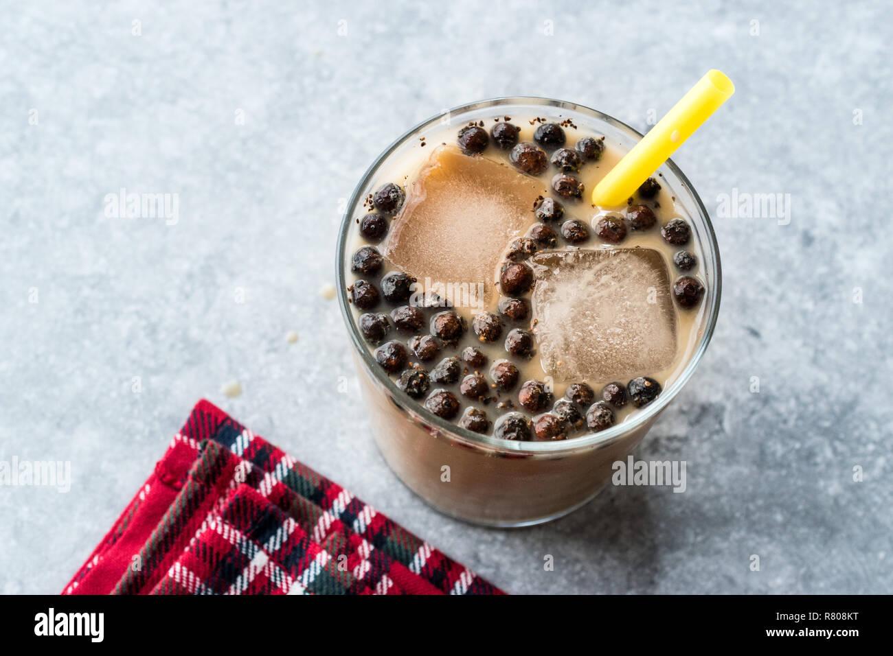Bubble Milk Green Tea With Tapioca High Resolution Stock ...