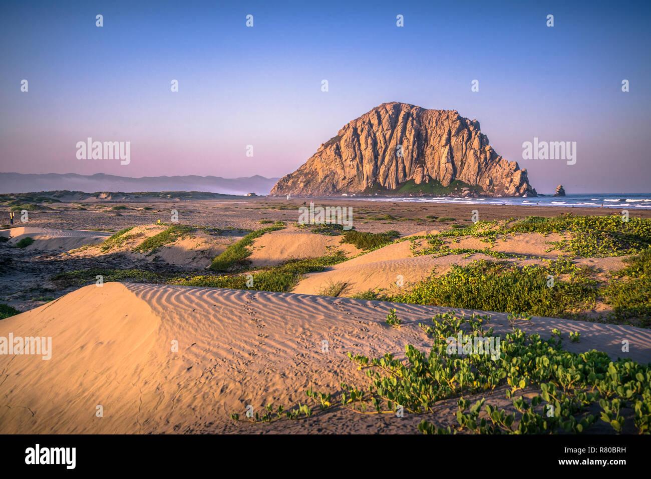 Big Sur, California, including Morro Bay, McWay Falls, Bixby Creek, Pfieffer Beach, and Ragged Point - Stock Image