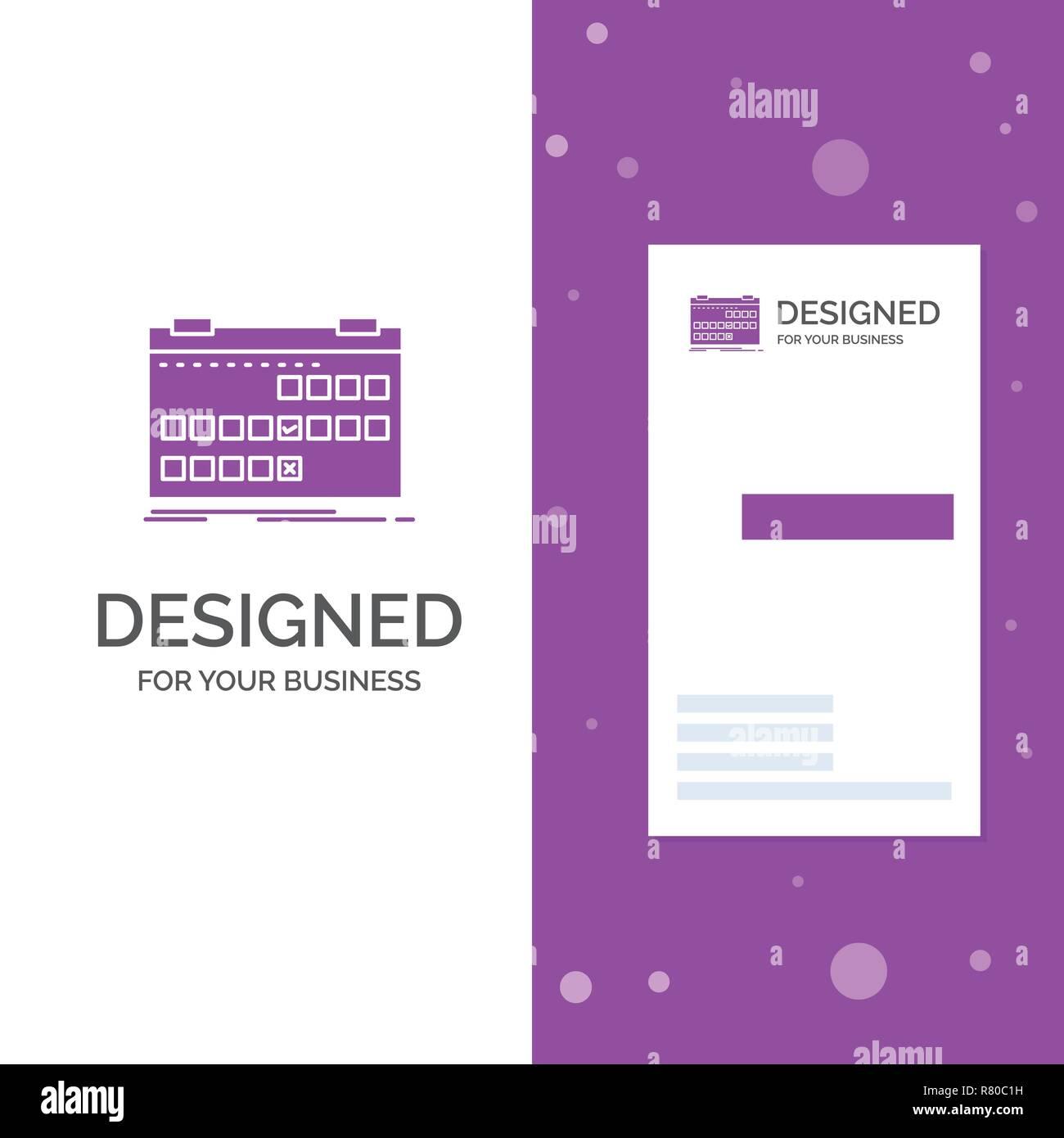 Business Logo For Calendar Date Event Release Schedule Vertical