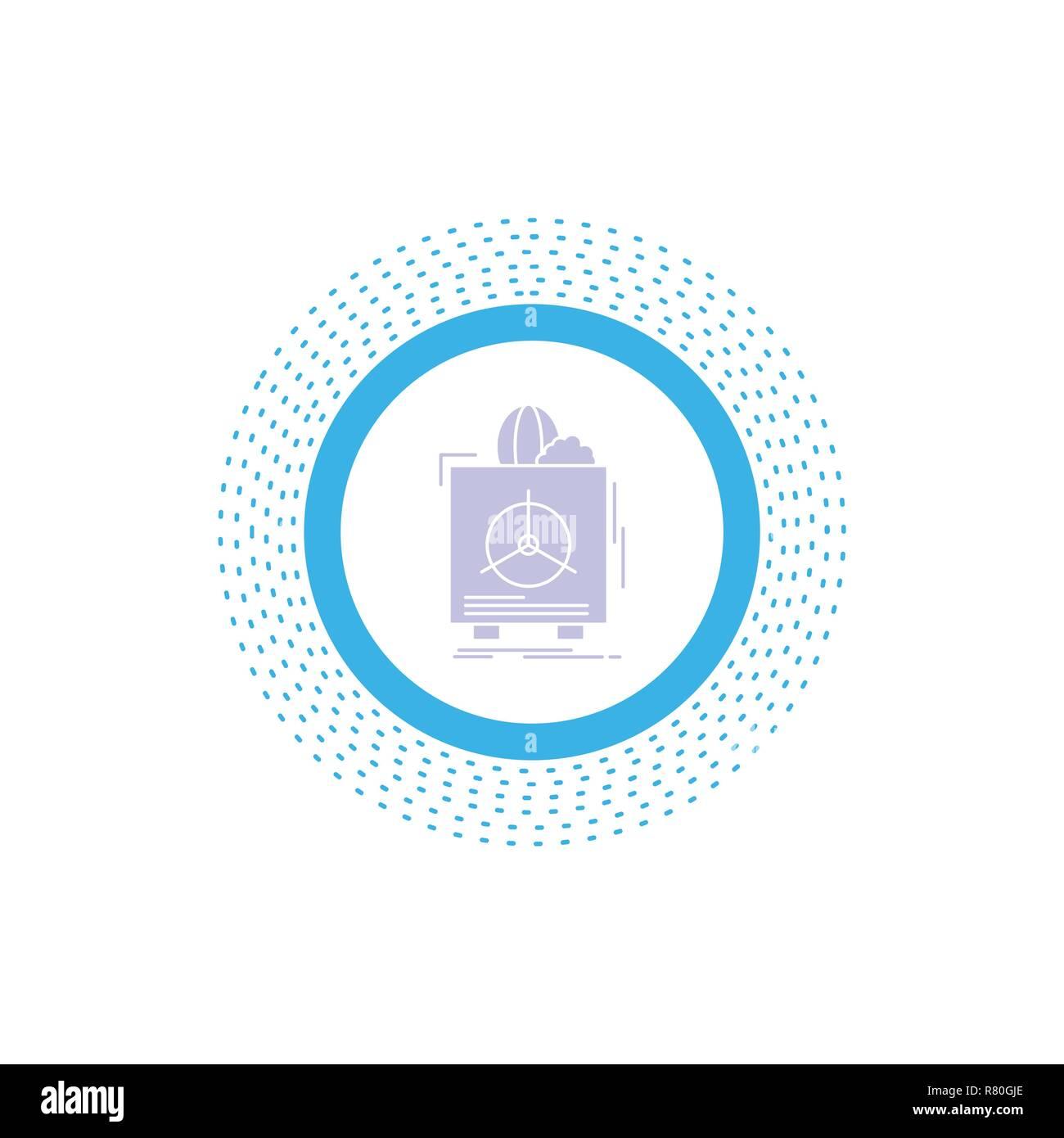 insurance, Fragile, product, warranty, health Glyph Icon. Vector isolated illustration - Stock Vector