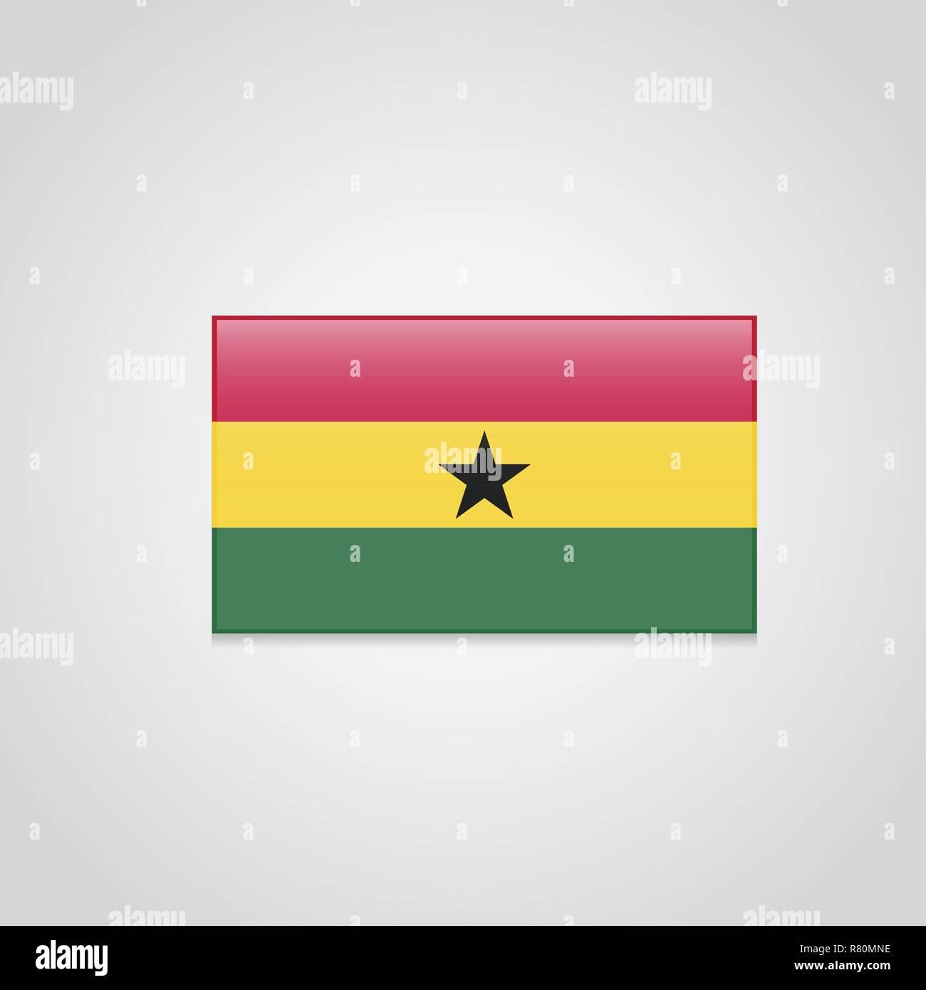 Ghana Flag Vector - Stock Vector