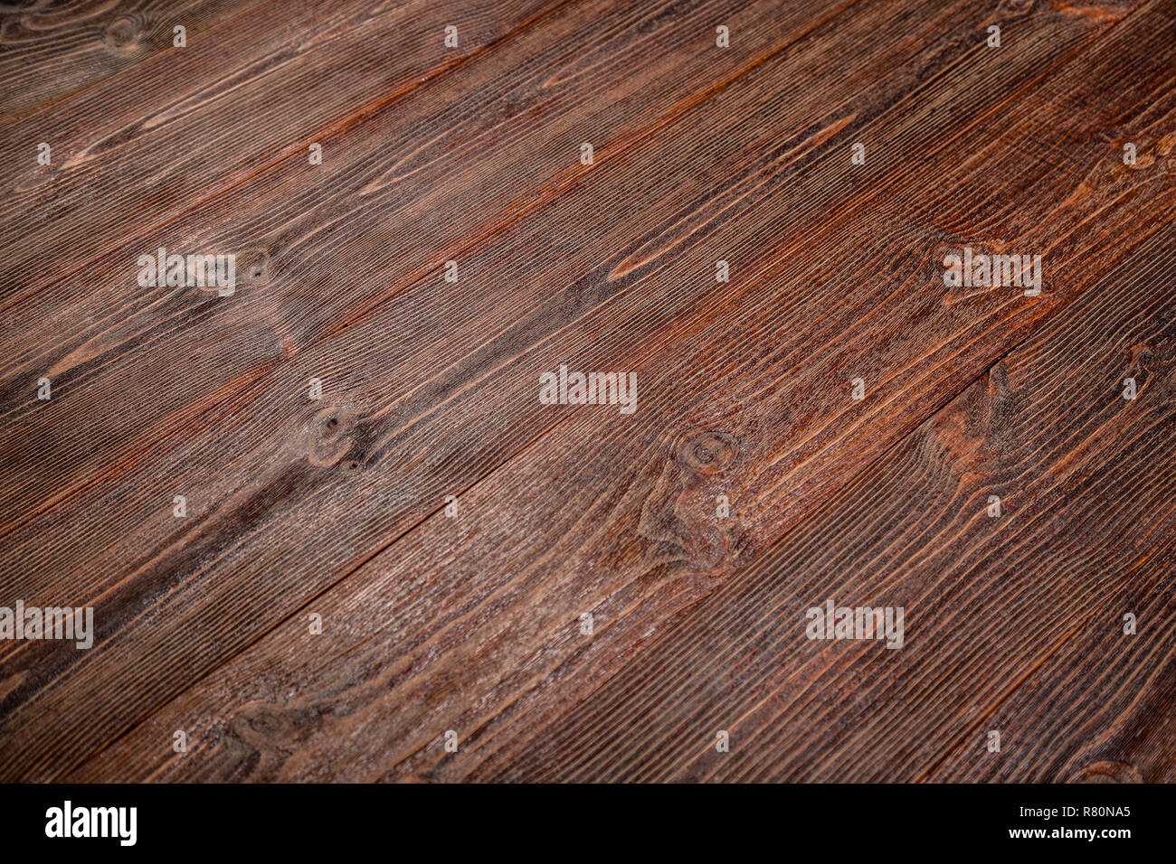 Brown old boards. Wood texture - Stock Image