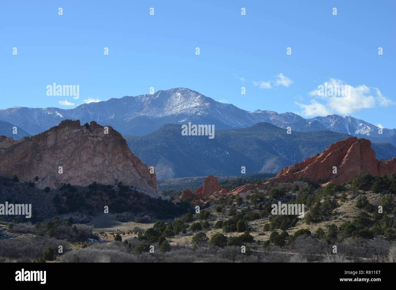 Garden of the Gods, From Entrance - Colorado Springs, CO - Stock Image