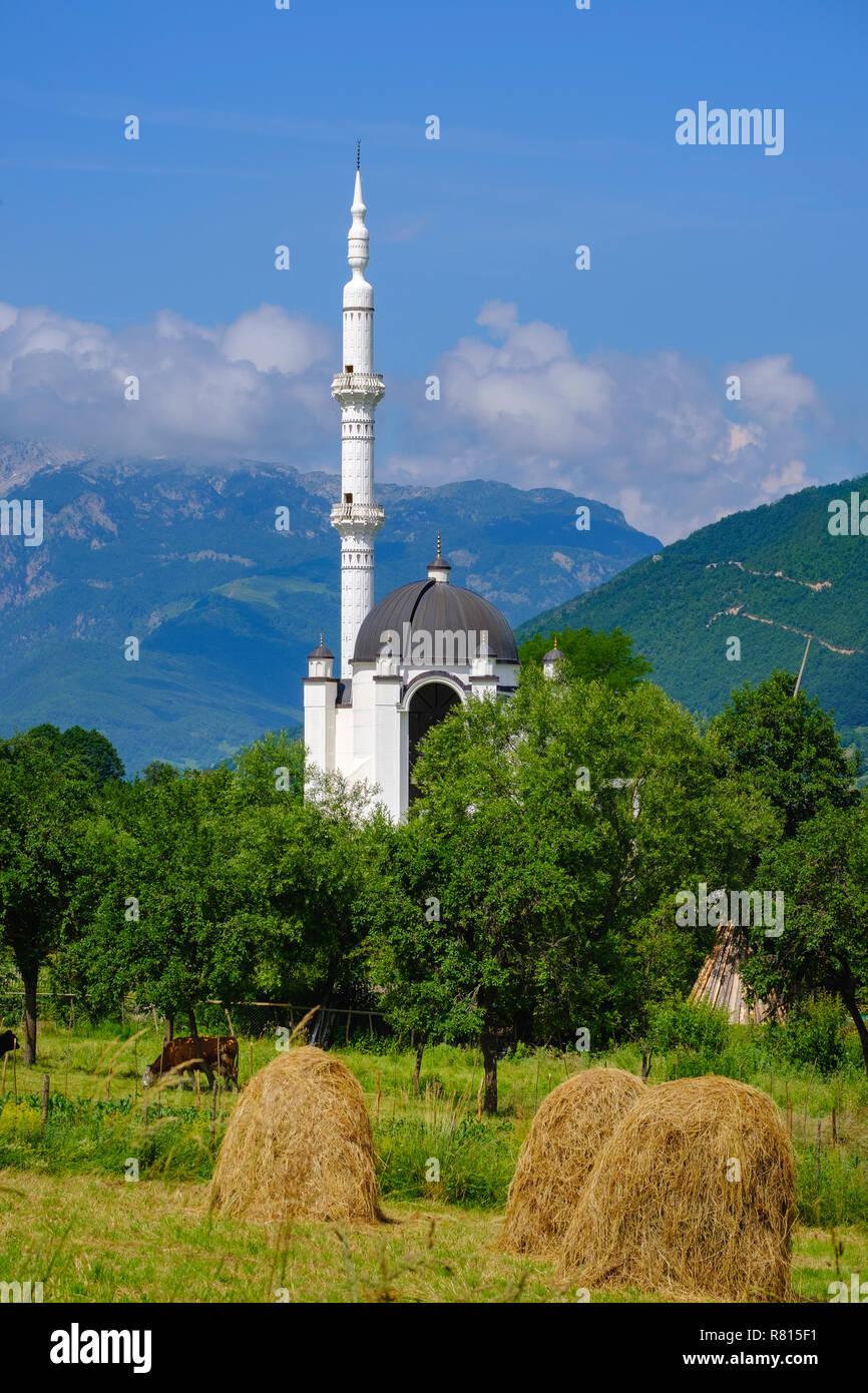 Sehidska Mosque in Vojno Selo, near Plav, Montenegro - Stock Image