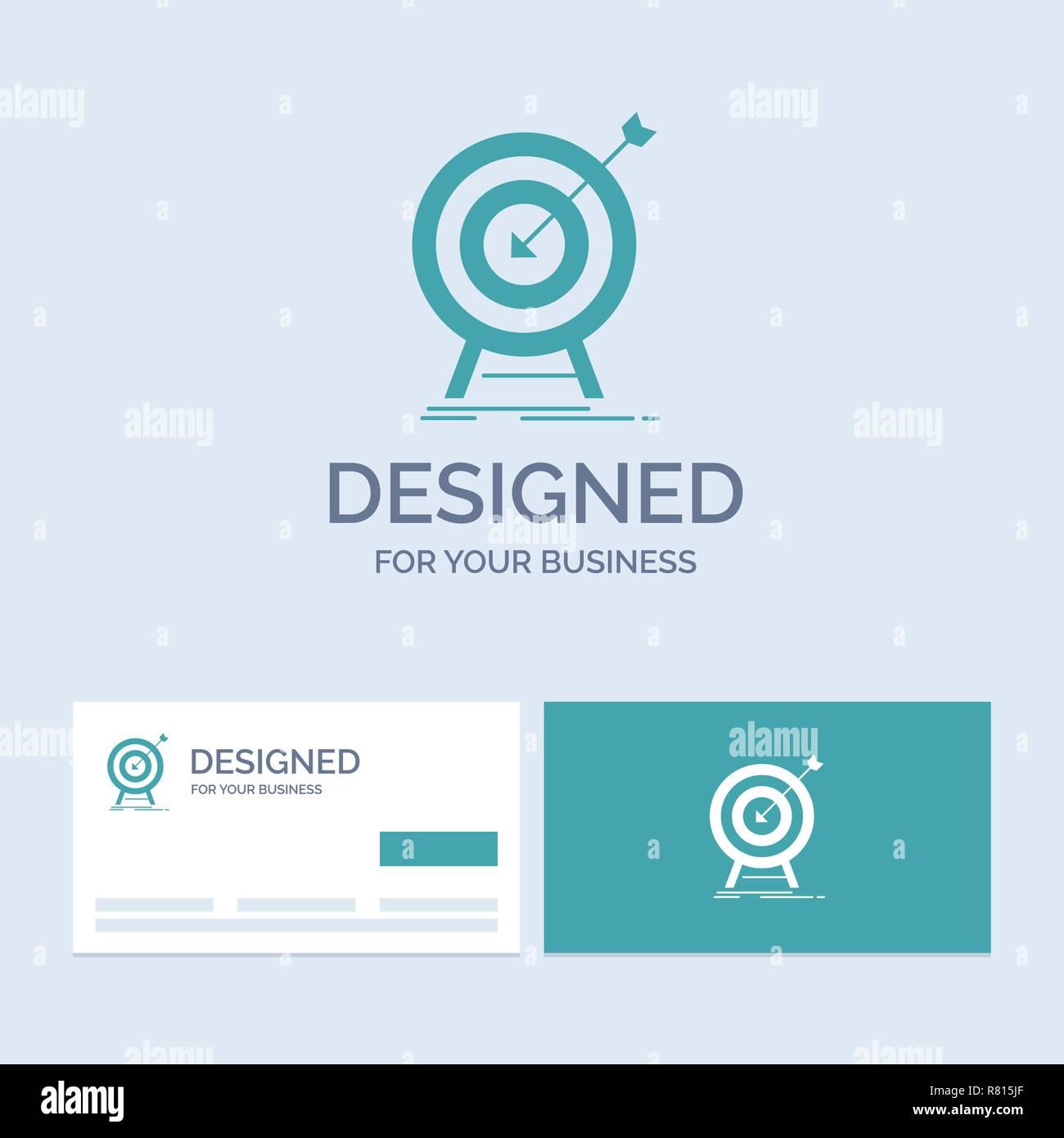 goal hit market success target business logo glyph icon symbol