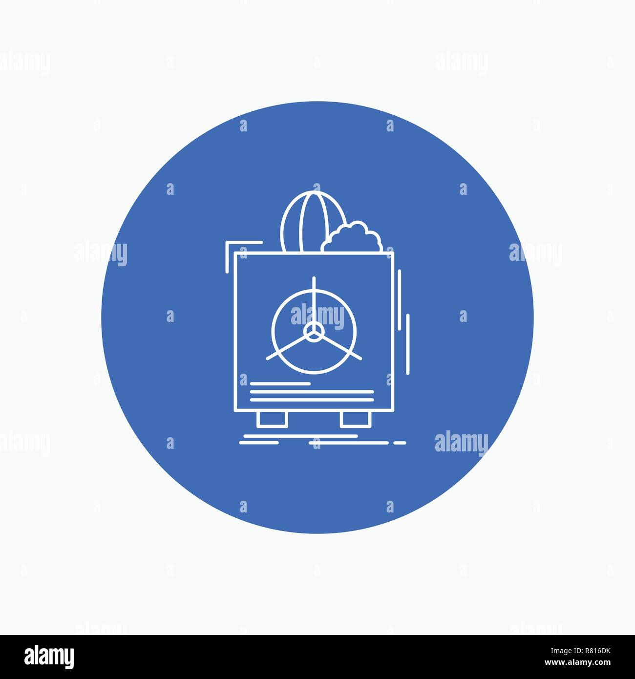 insurance, Fragile, product, warranty, health White Line Icon in Circle background. vector icon illustration - Stock Vector