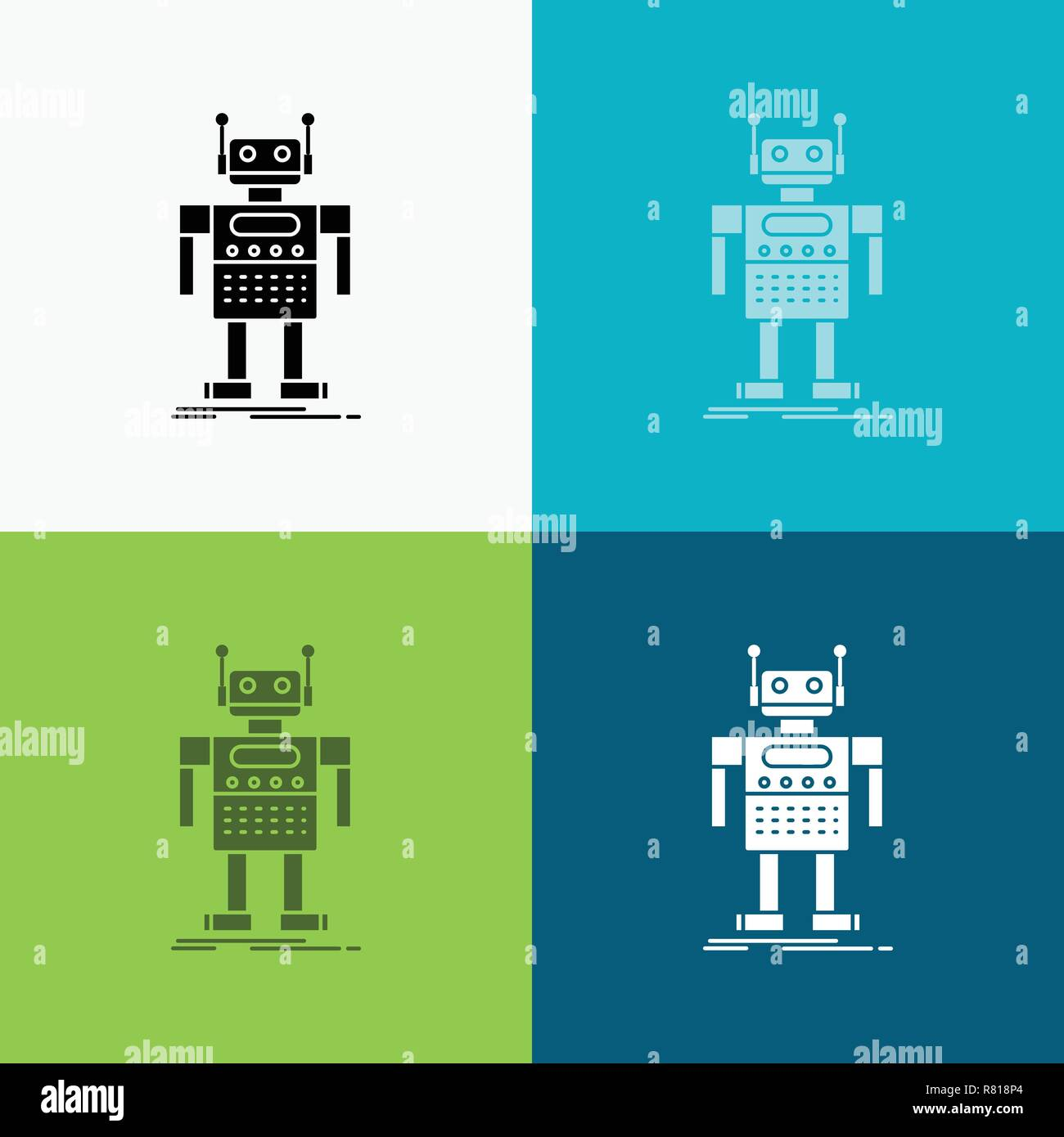 robot, Android, artificial, bot, technology Icon Over