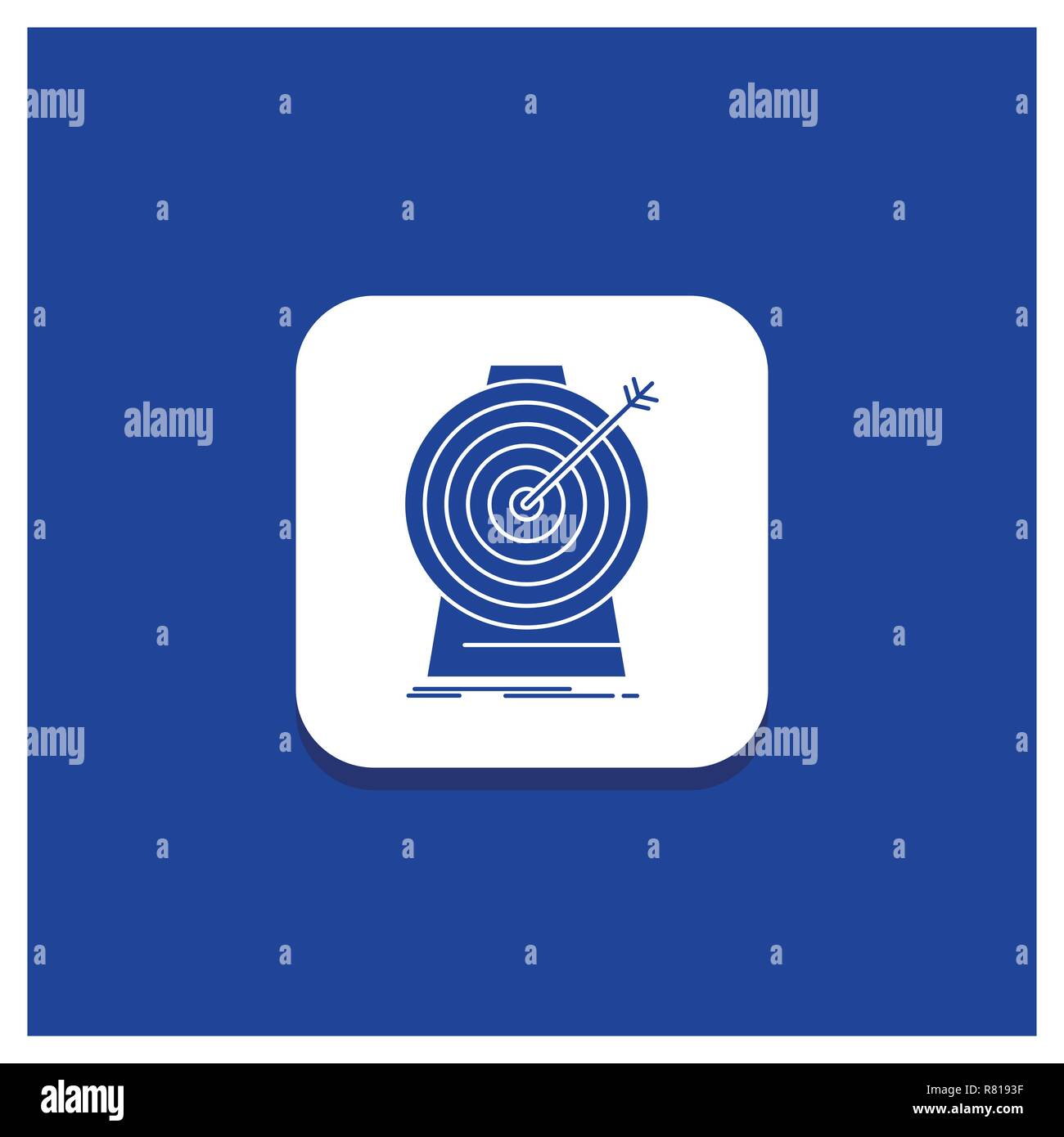 blue round button for aim focus goal target targeting glyph icon stock vector image art alamy alamy
