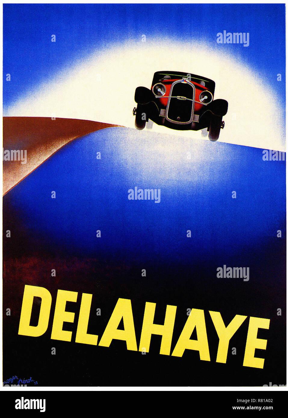 ADVERTISING METAL PLATE DELAHAYE