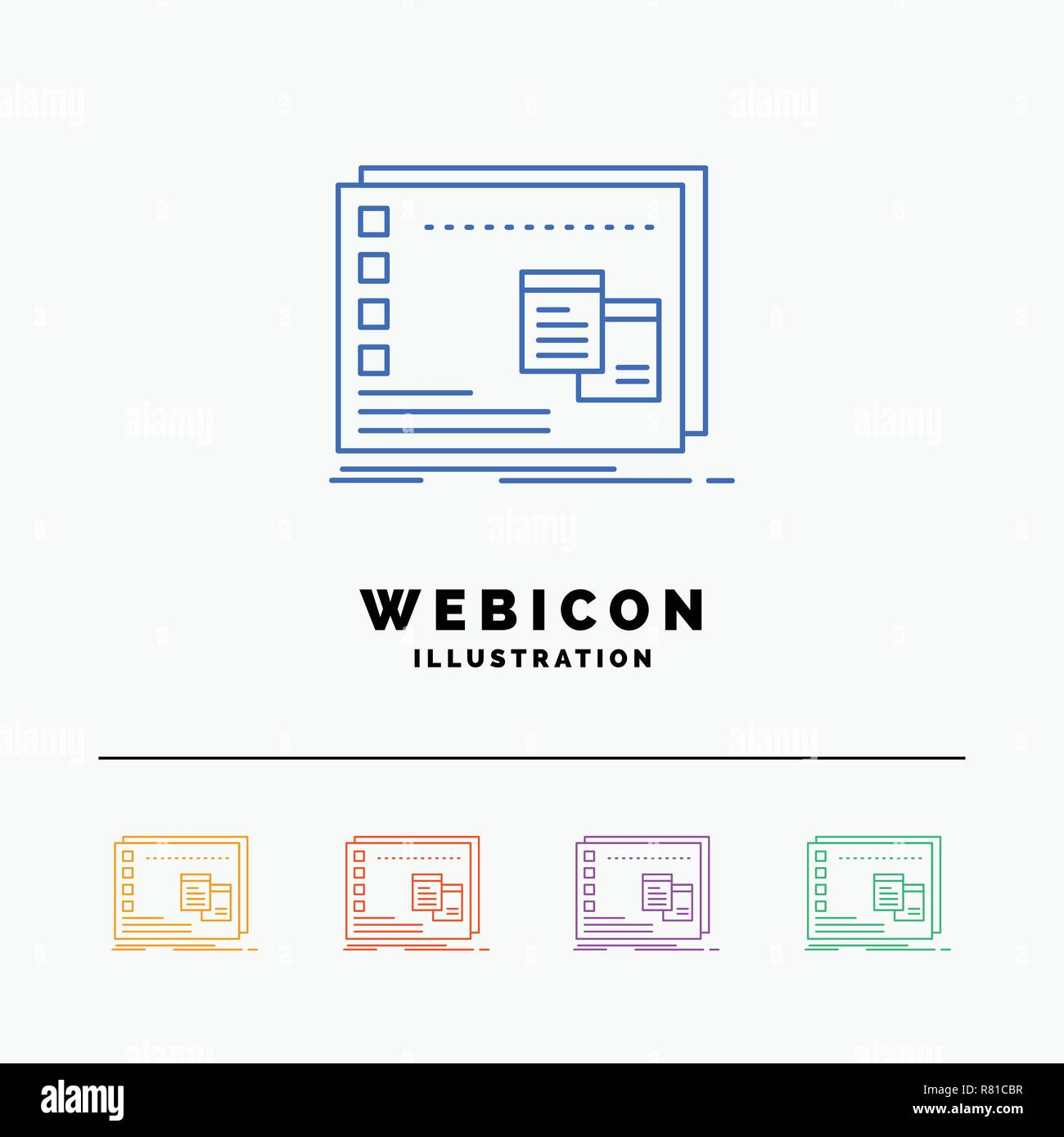 Window, Mac, operational, os, program 5 Color Line Web Icon