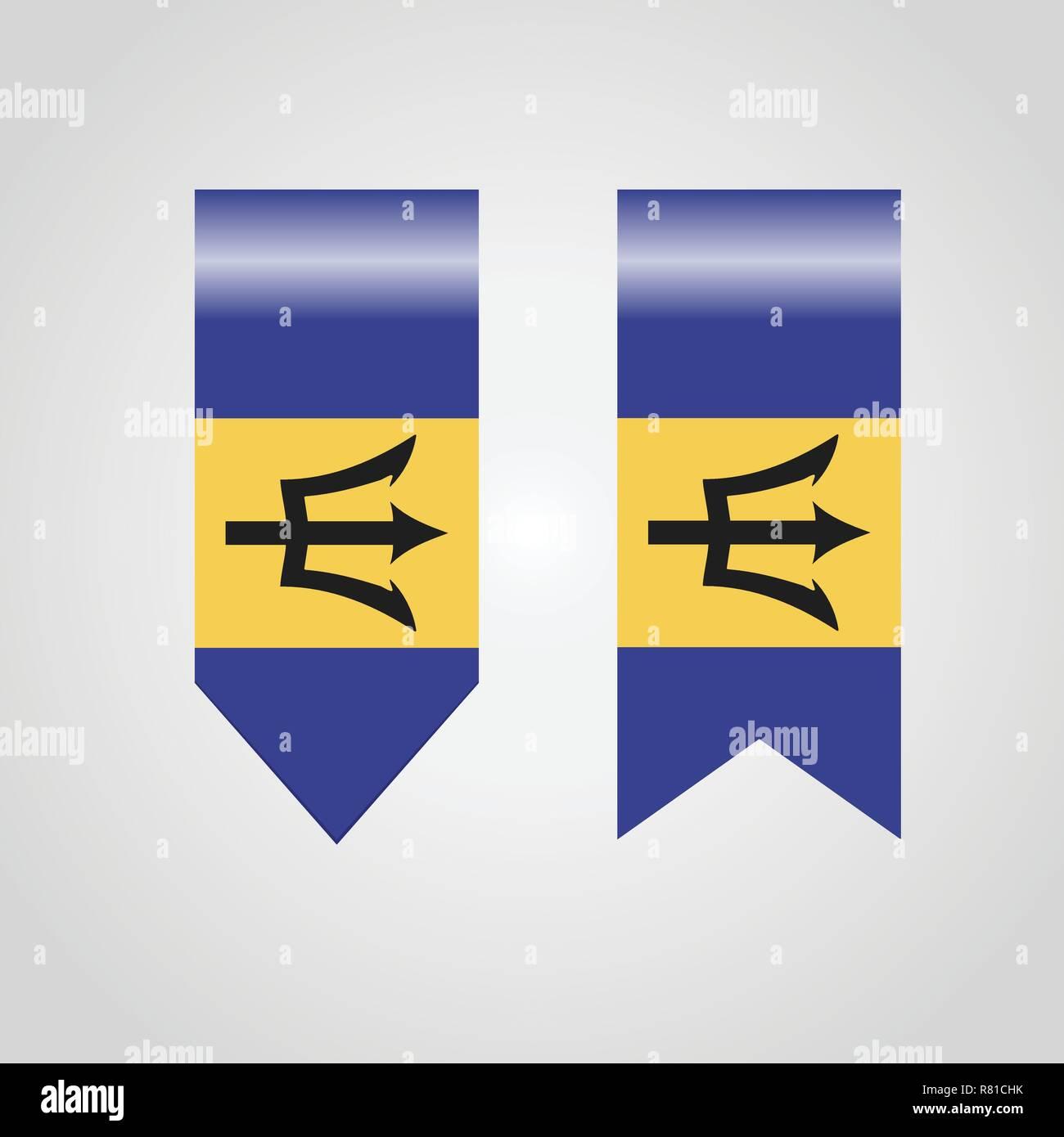Barbados Haning Flag - Stock Vector