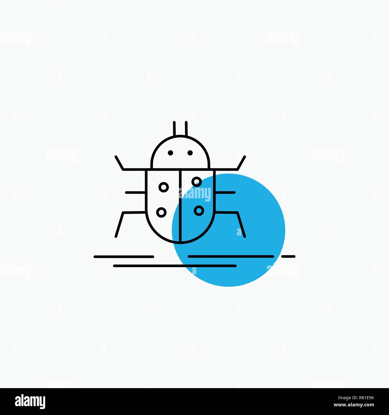 Bug, bugs, insect, testing, virus Line Icon Stock Vector Art