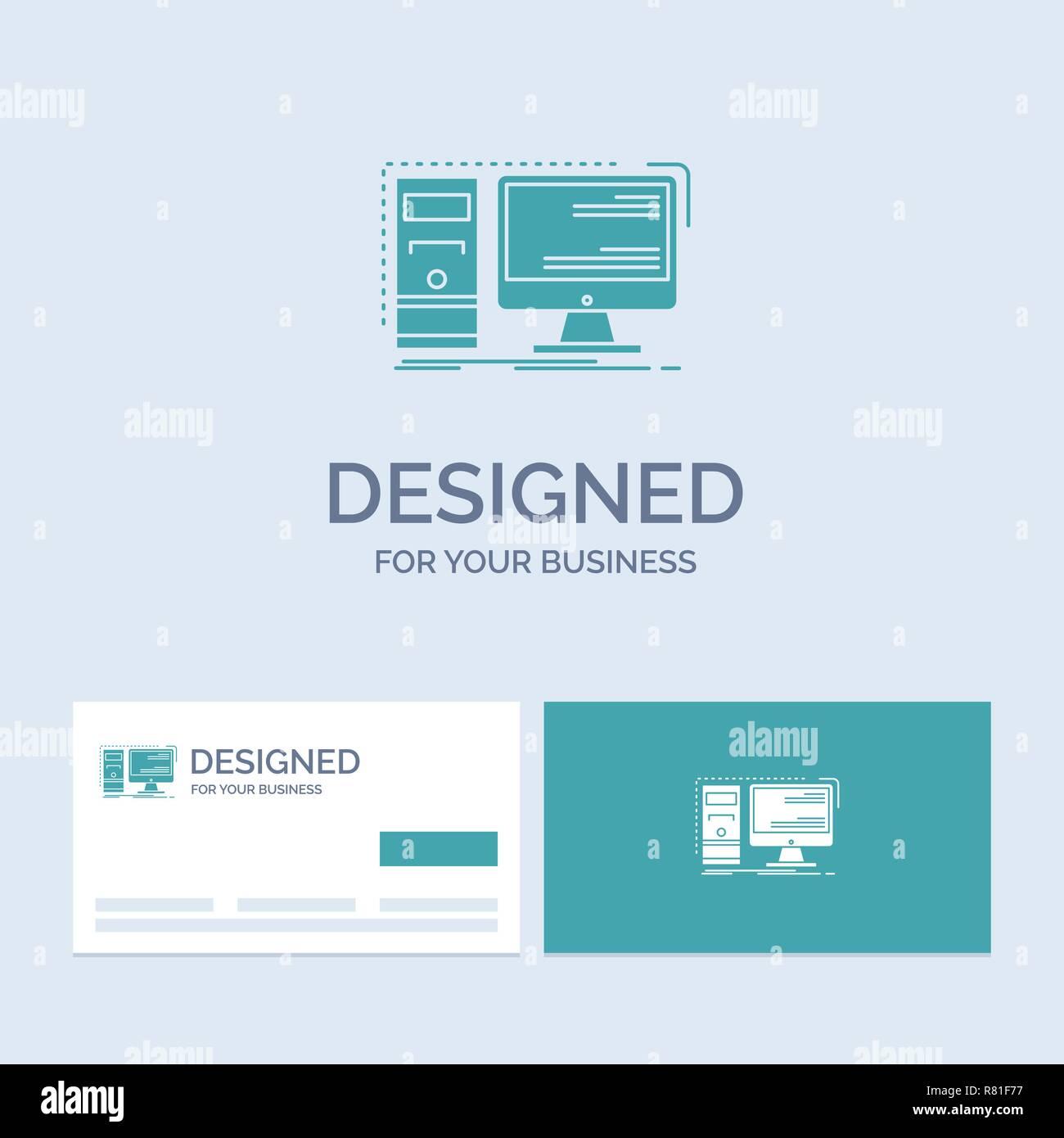 desktop logo computer workstation icon stock vector images alamy