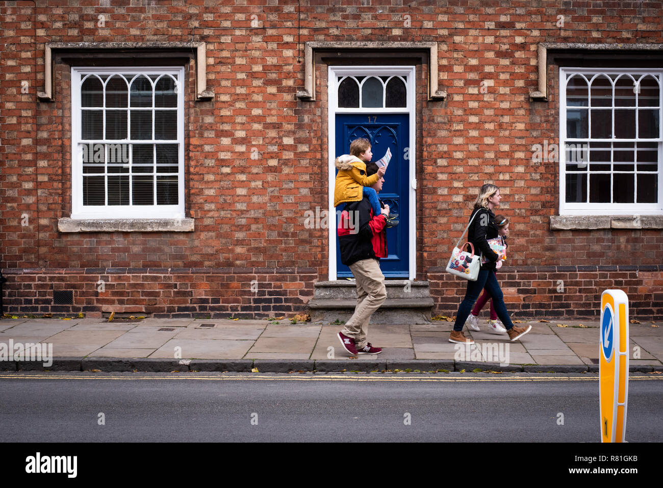 Family day out in Stratford upon Avon, UK Stock Photo