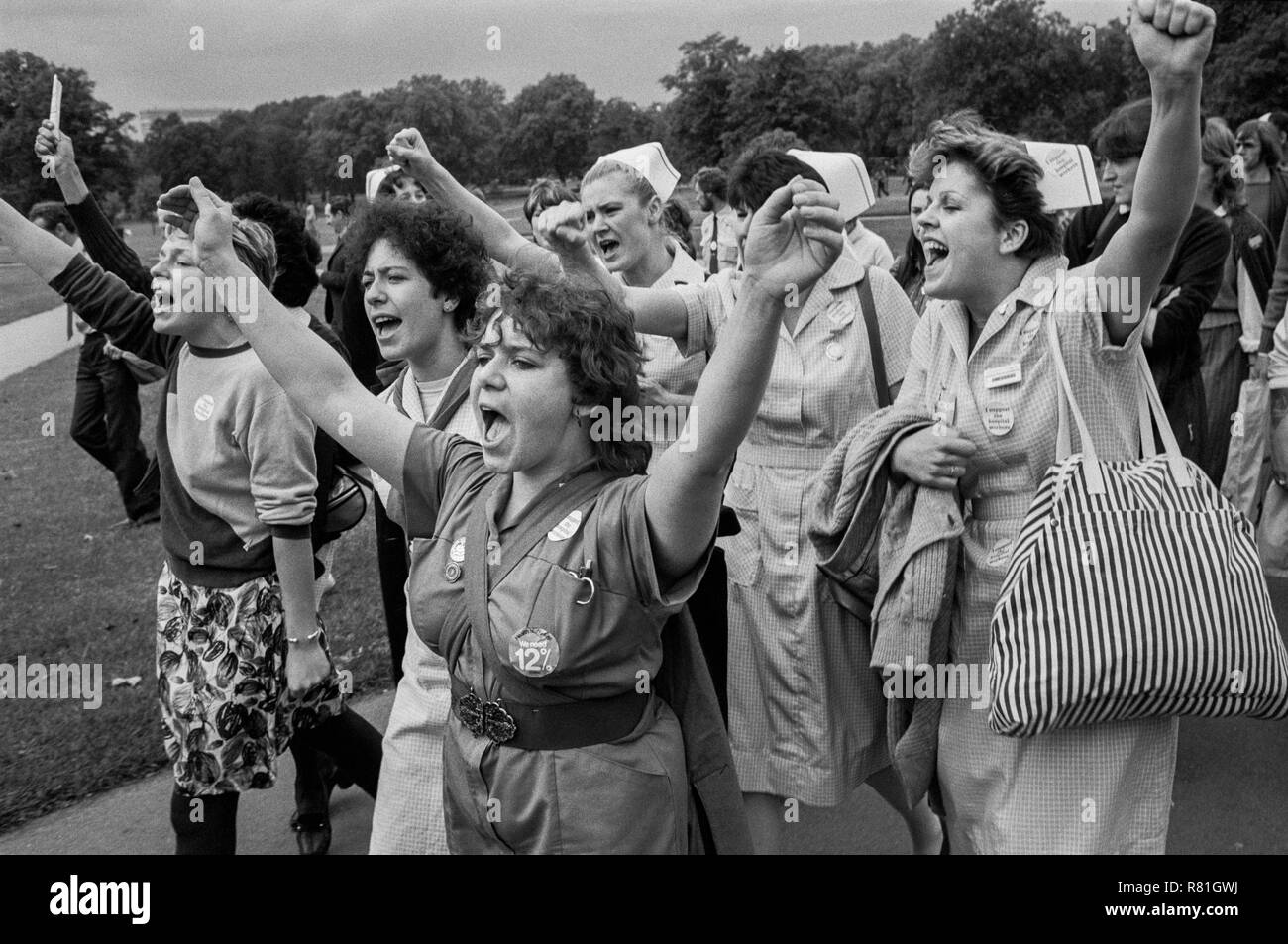 NHS rally on the TUC Day of Action, 22nd September 1982, London - Stock Image