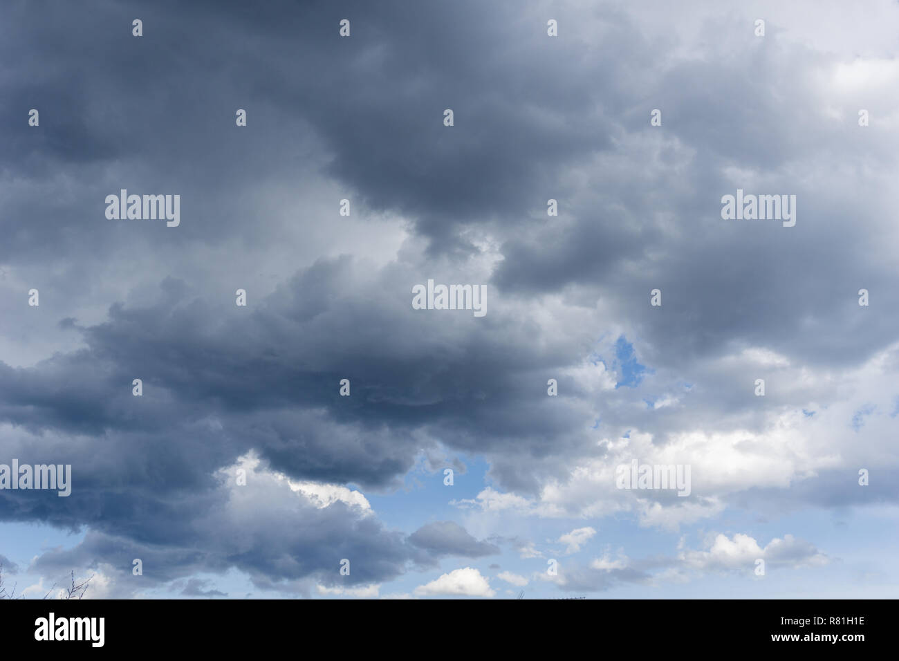 Close-up of a Big dramatic Storm Clouds. - Stock Image