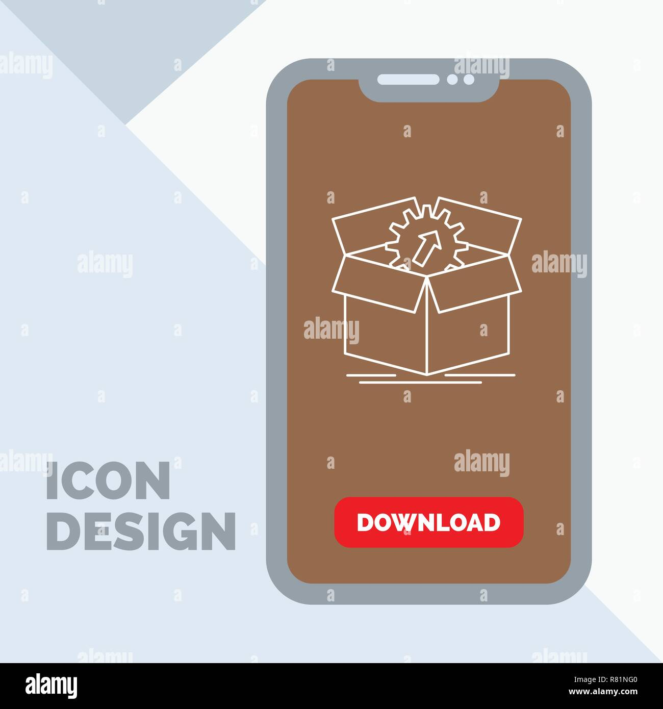 upload, performance, productivity, progress, work Line Icon in Mobile for Download Page - Stock Vector