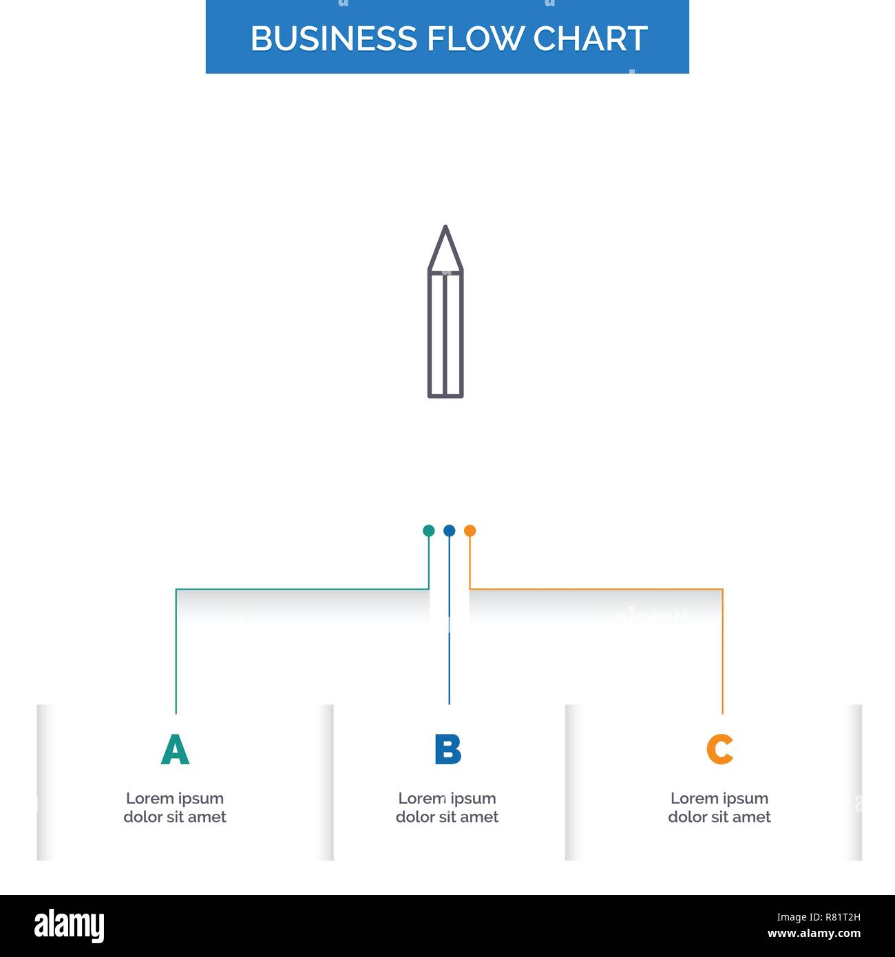 Bulb Creative Solution Light Pencil Business Flow Chart Design