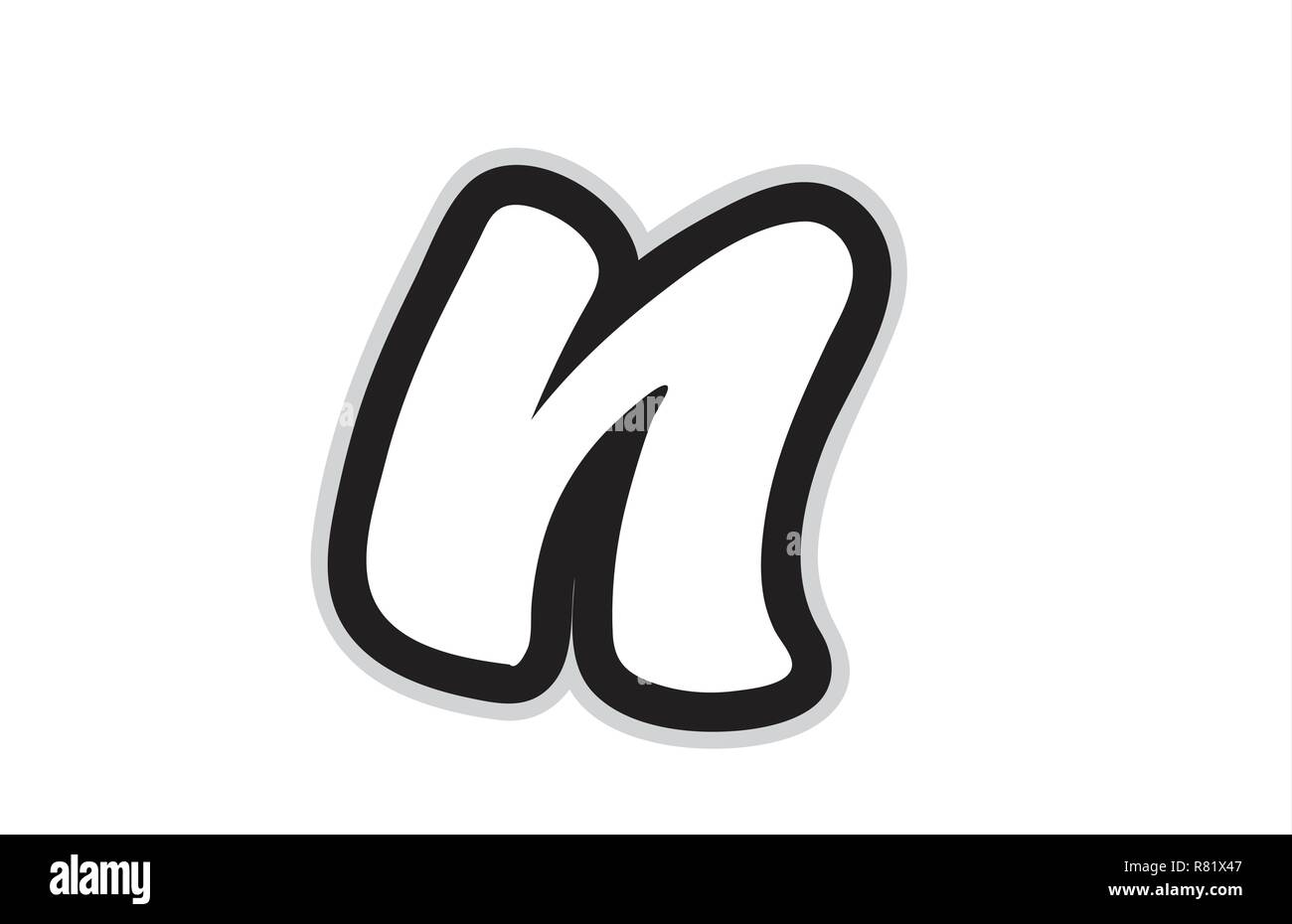 Letter N Alphabet Black And White Stock Photos Images Alamy