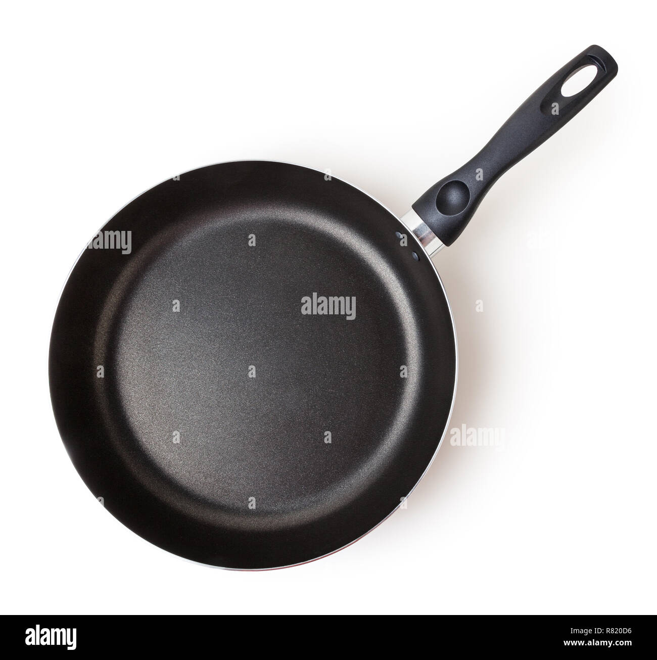 Frying pan isolated on white background with clipping path - Stock Image