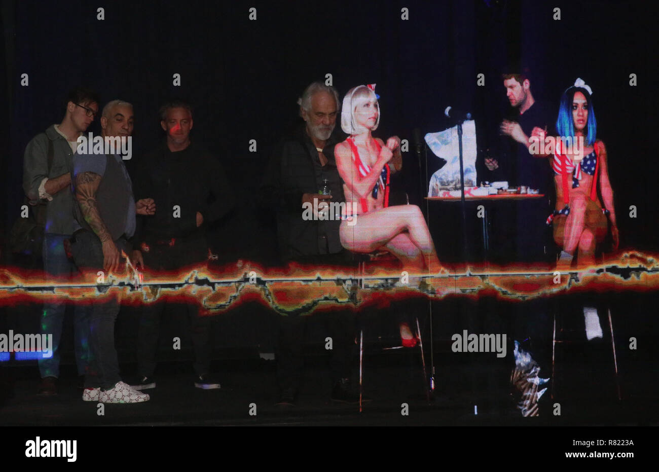 9cc2bac5 Tommy Chong becomes a hologram at Swissx event at Hologram USA Theatre  Featuring: Sam Braslow
