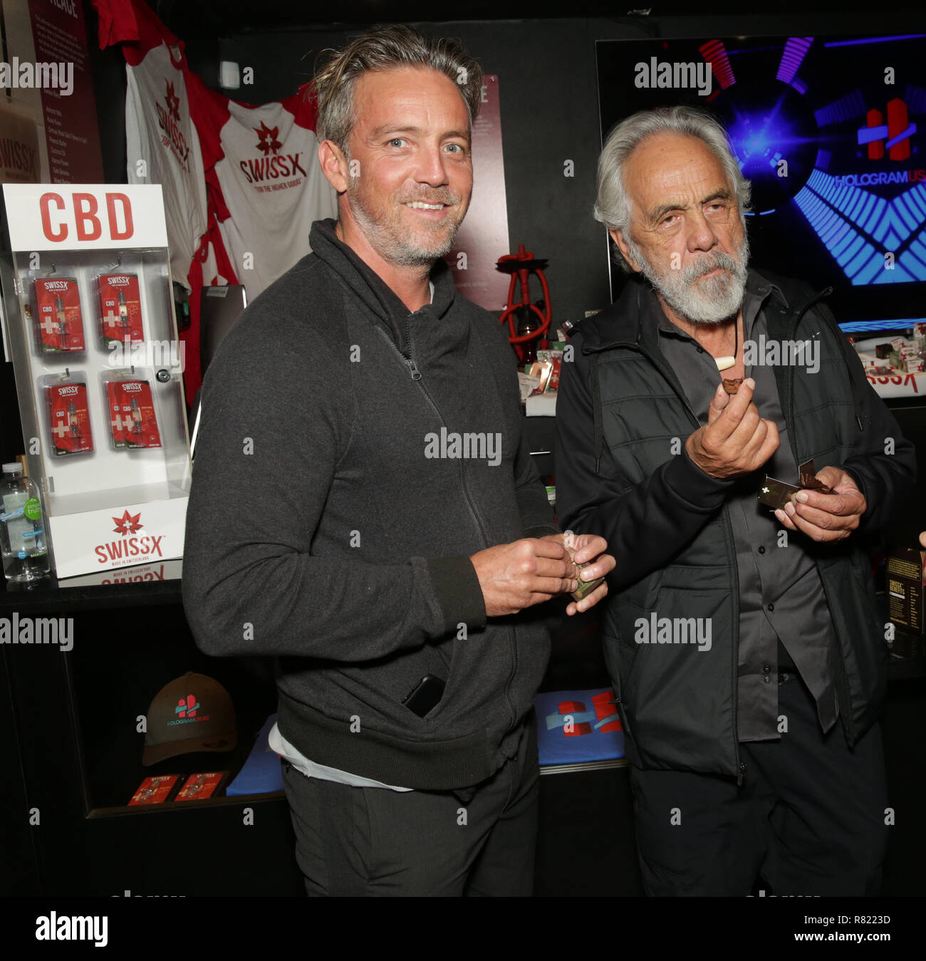 5ac218ec Tommy Chong becomes a hologram at Swissx event at Hologram USA Theatre  Featuring: Paris Chong