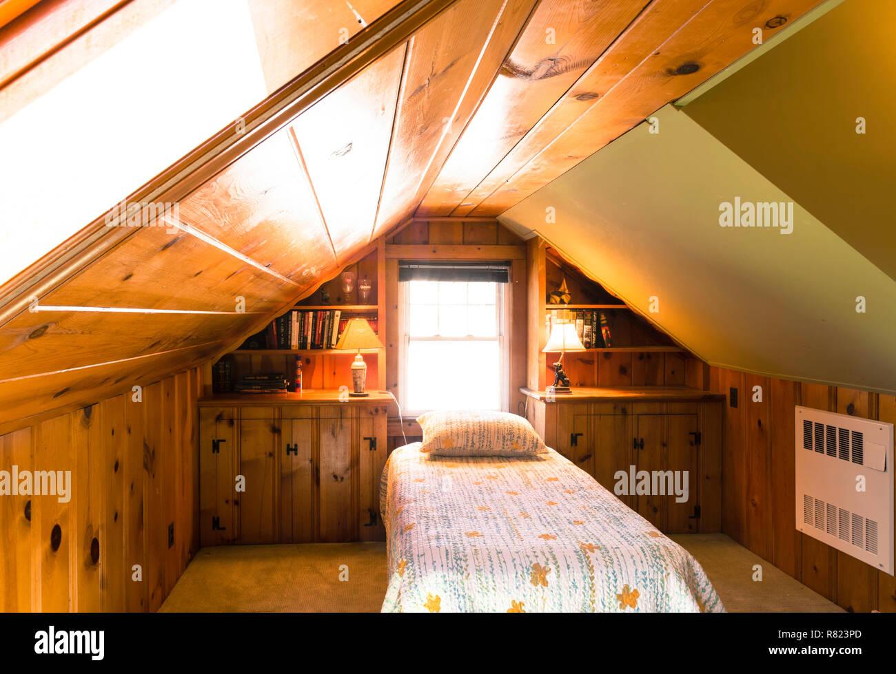 Bedroom Interior, USA - Stock Image