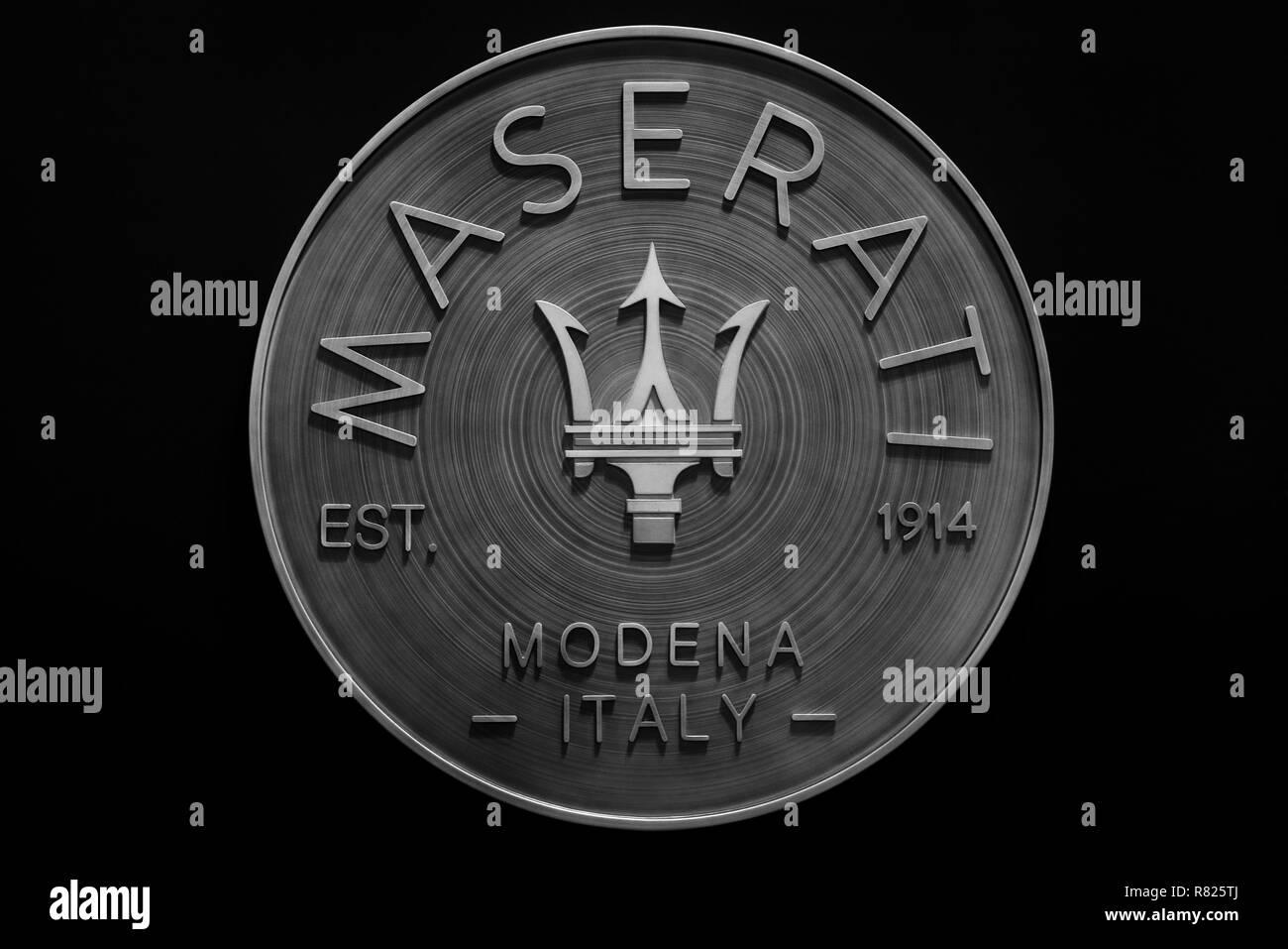 Logo Maserati, Switzerland - Stock Image