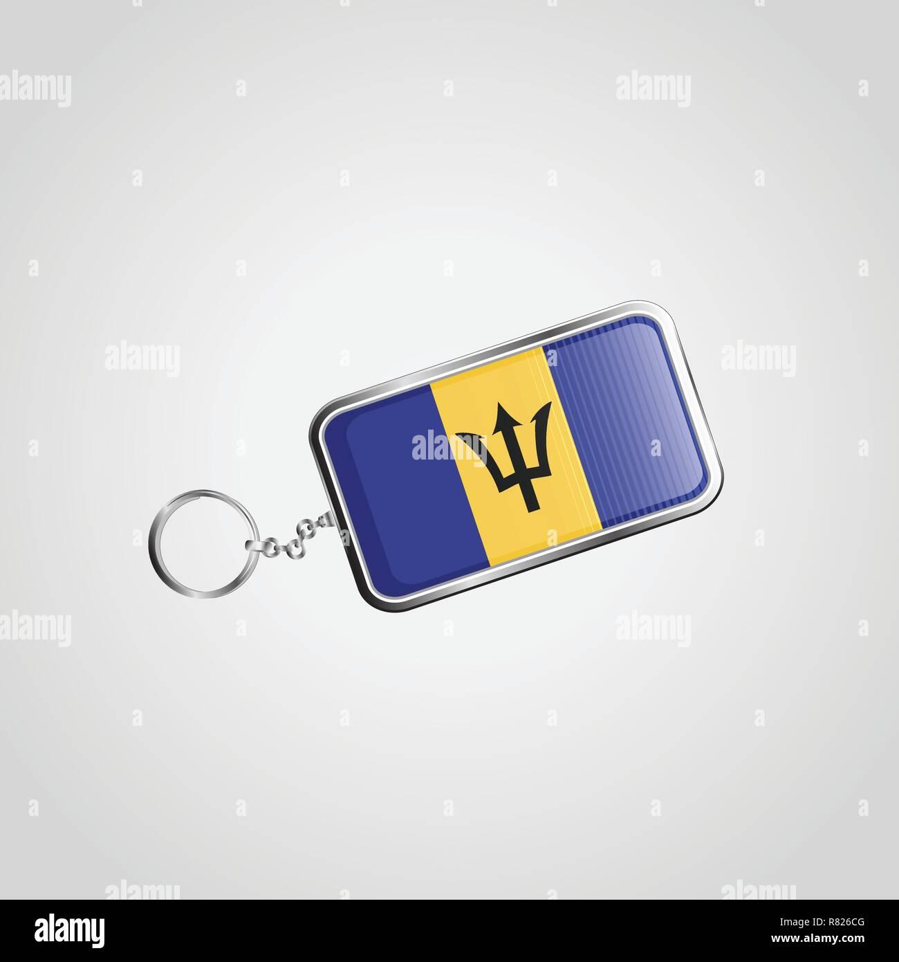 Barbados Vector KeyChain Design - Stock Vector