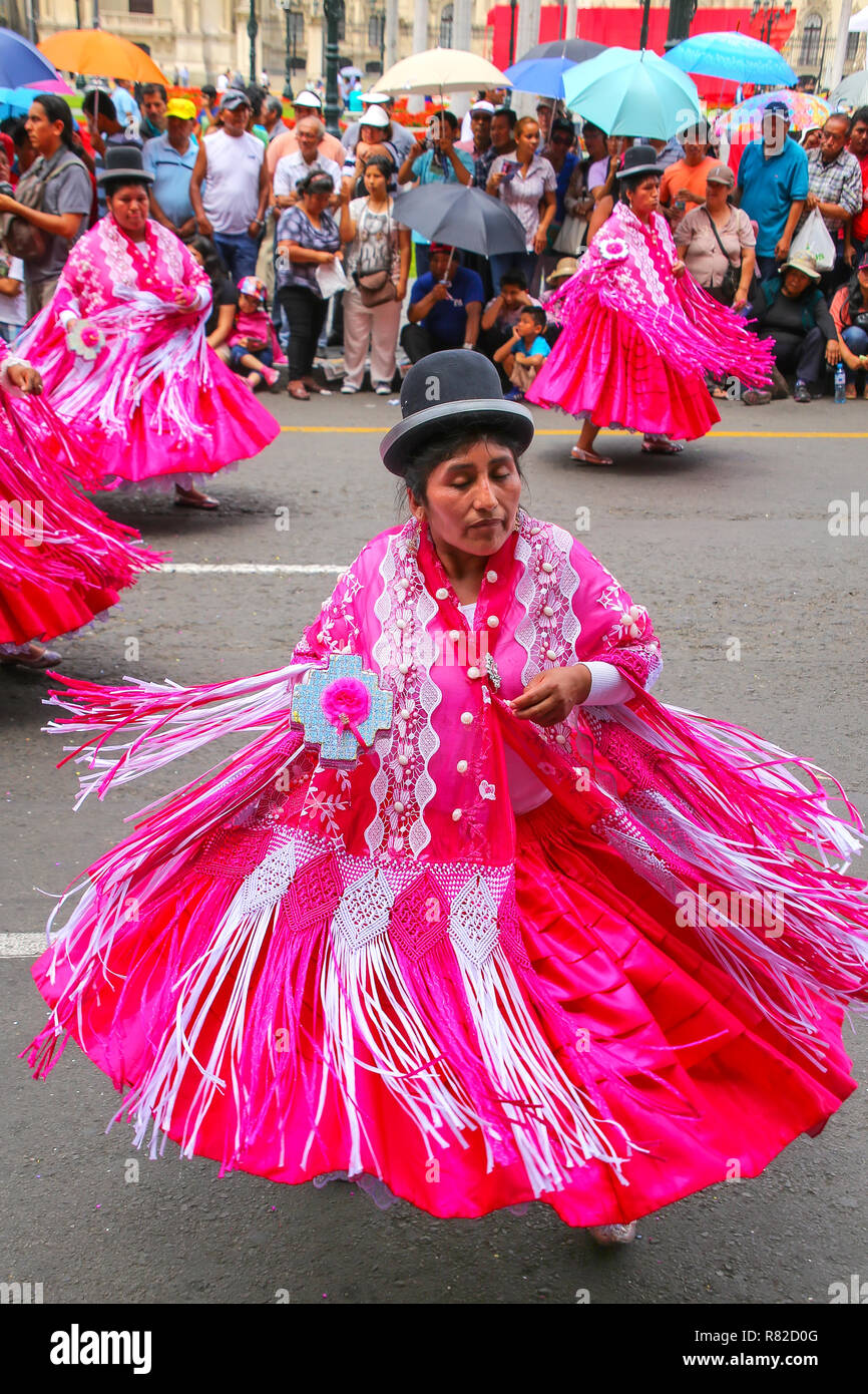 0a454731c8 Local women performing during Festival of the Virgin de la Candelaria in  Lima