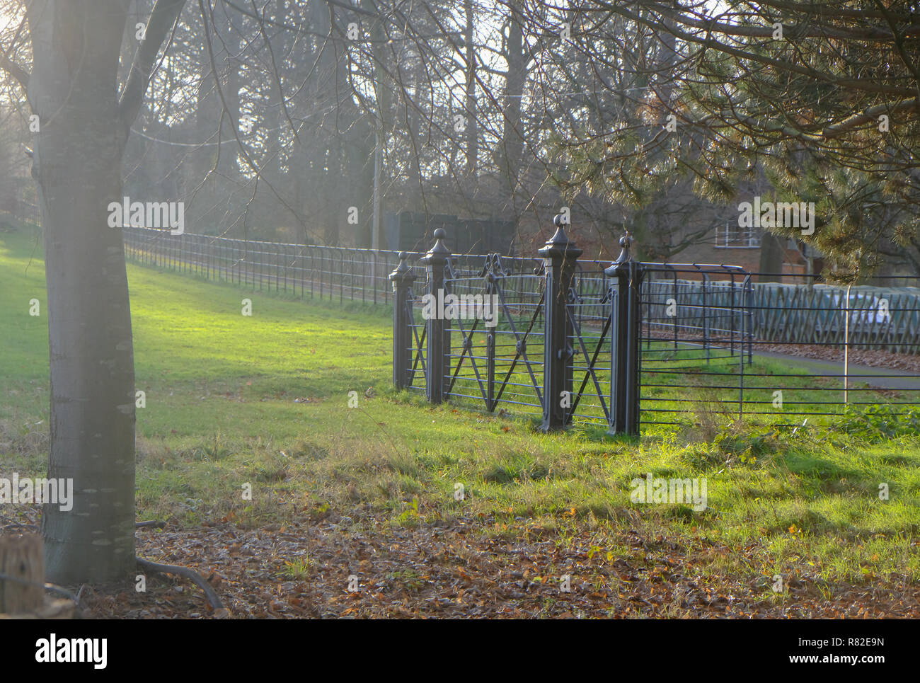 Gates In A Field Stock Photos & Gates In A Field Stock
