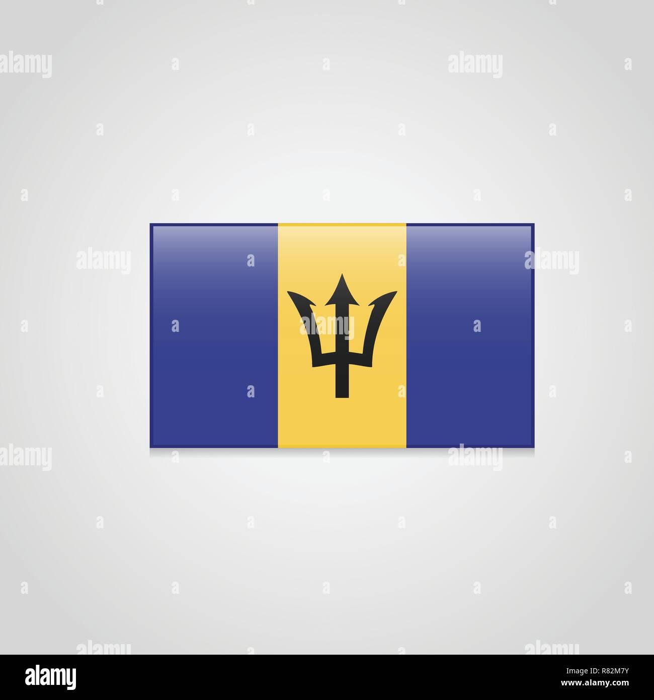 Barbados Flag Vector - Stock Vector