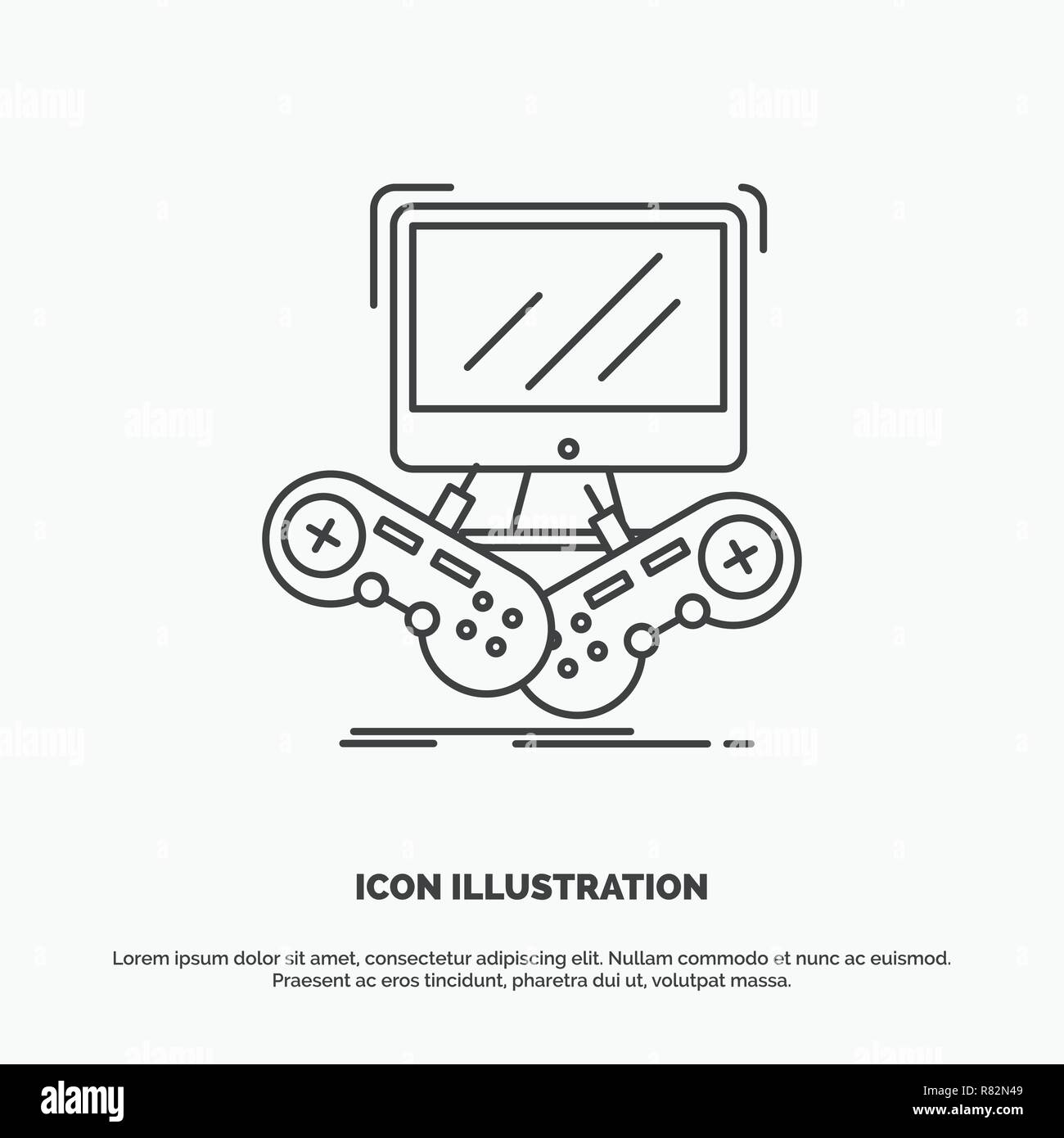 Game, gaming, internet, multiplayer, online Icon  Line