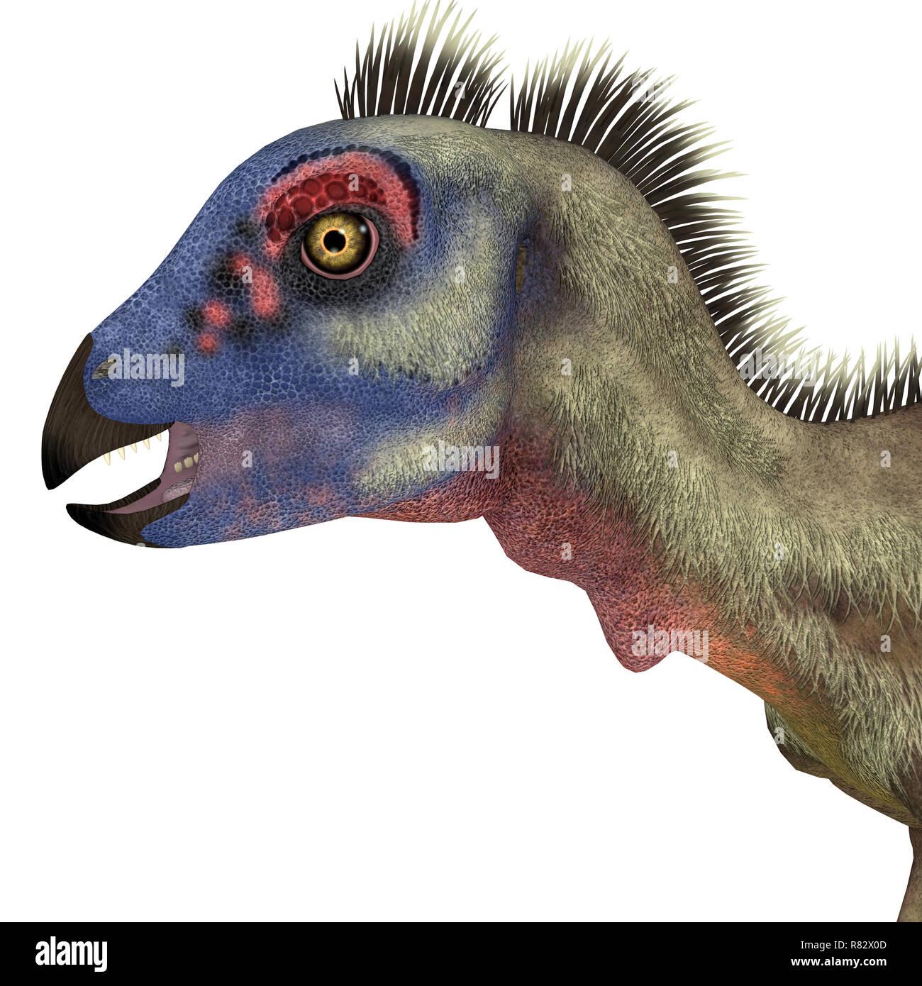 Hypsilophodon Dinosaur Head - Hypsilophodon was a omnivorous ornithopod dinosaur that lived in England during the Cretaceous Period. - Stock Image