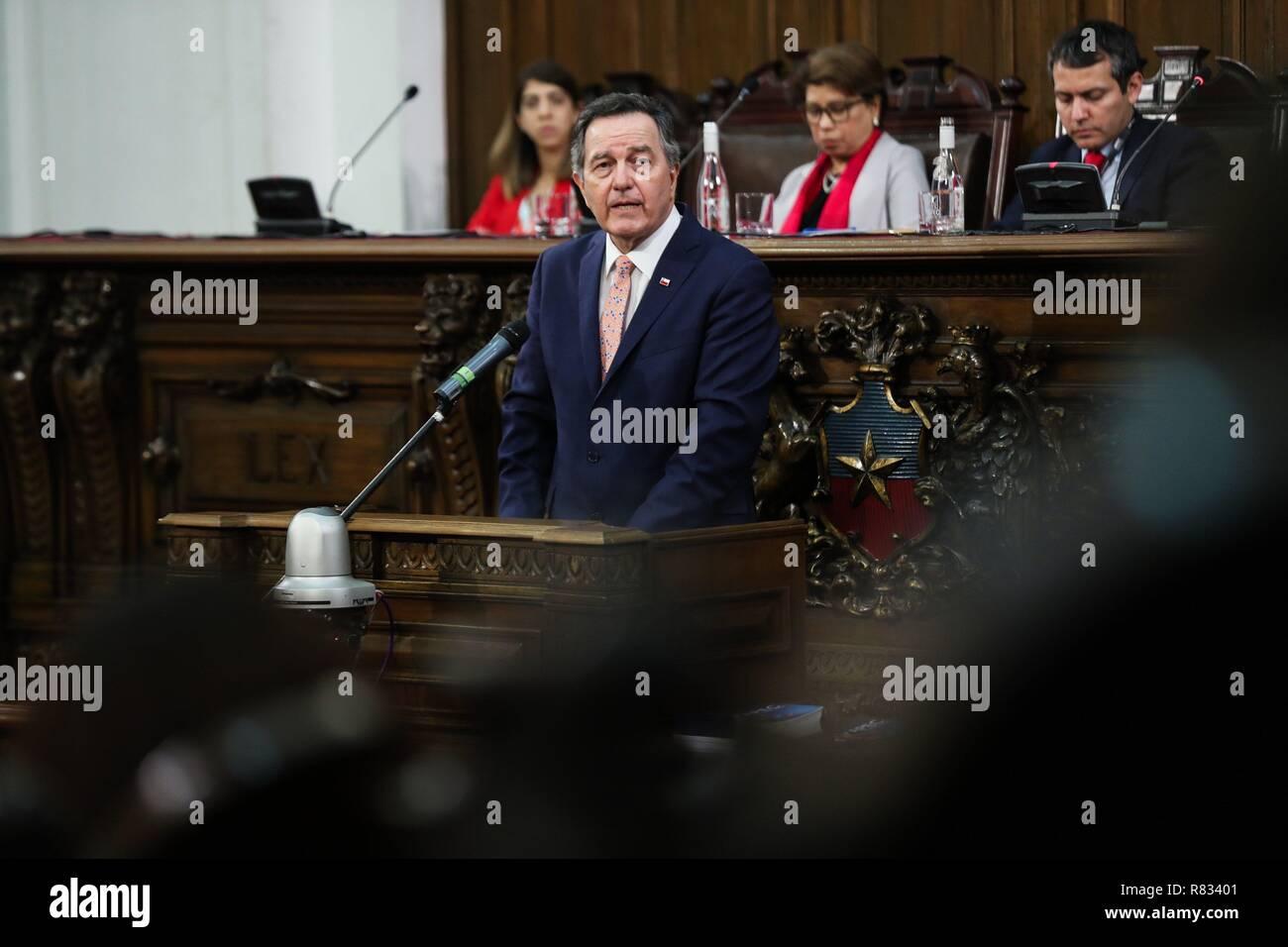 Santiago De Chile, Chile  12th Dec, 2018  Foreign Minister of Chile